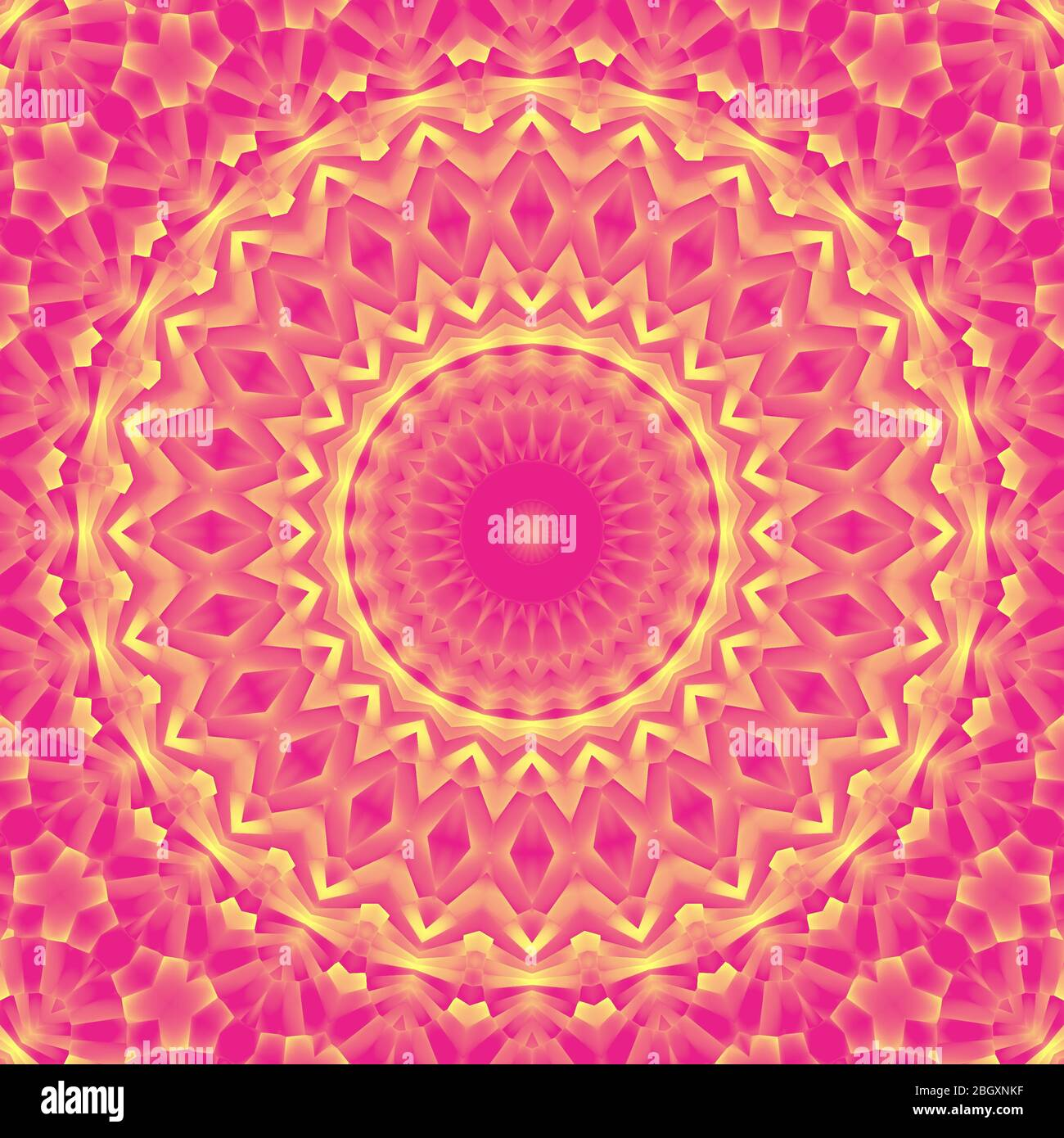 a very beautiful and colorful illustration of mandala in elegant pink and yellow colors computer generated 3d wallpaper 2BGXNKF