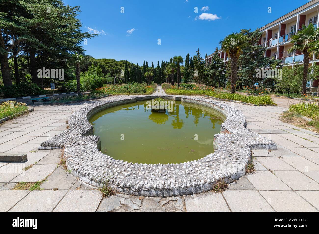 An Old Abandoned Sanatorium From Soviet Times In Foros Village Crimea Stock Photo Alamy