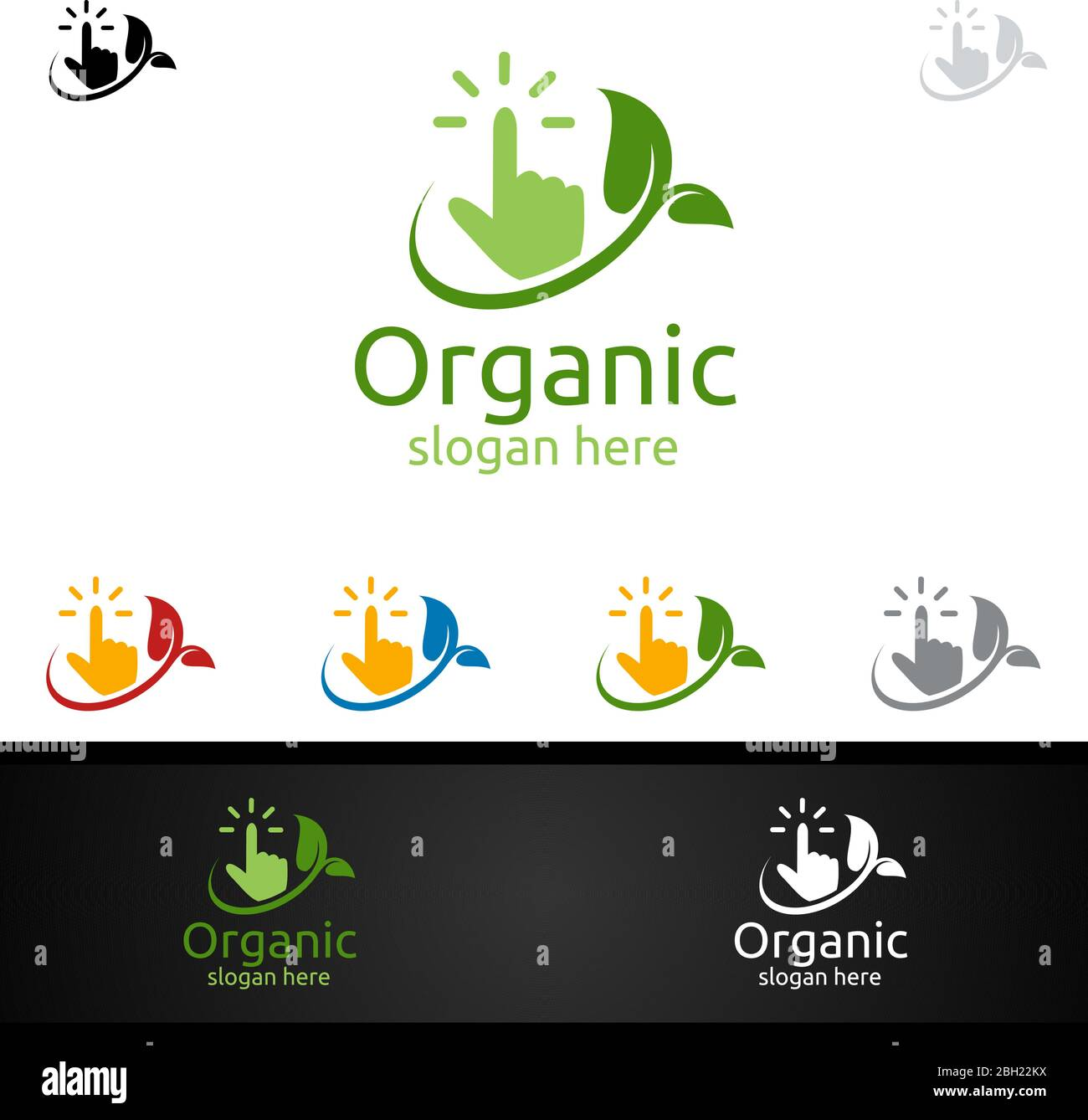 Online Natural And Organic Logo Design Template For Herbal Ecology Health Yoga Food Or Farm Concept Stock Vector Image Art Alamy