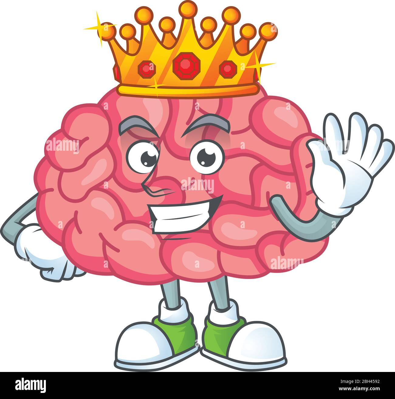 The Charismatic King Of Brain Cartoon Character Design Wearing Gold Crown Stock Vector Image Art Alamy Get commercial use crown graphics and vector designs. https www alamy com the charismatic king of brain cartoon character design wearing gold crown image354748494 html