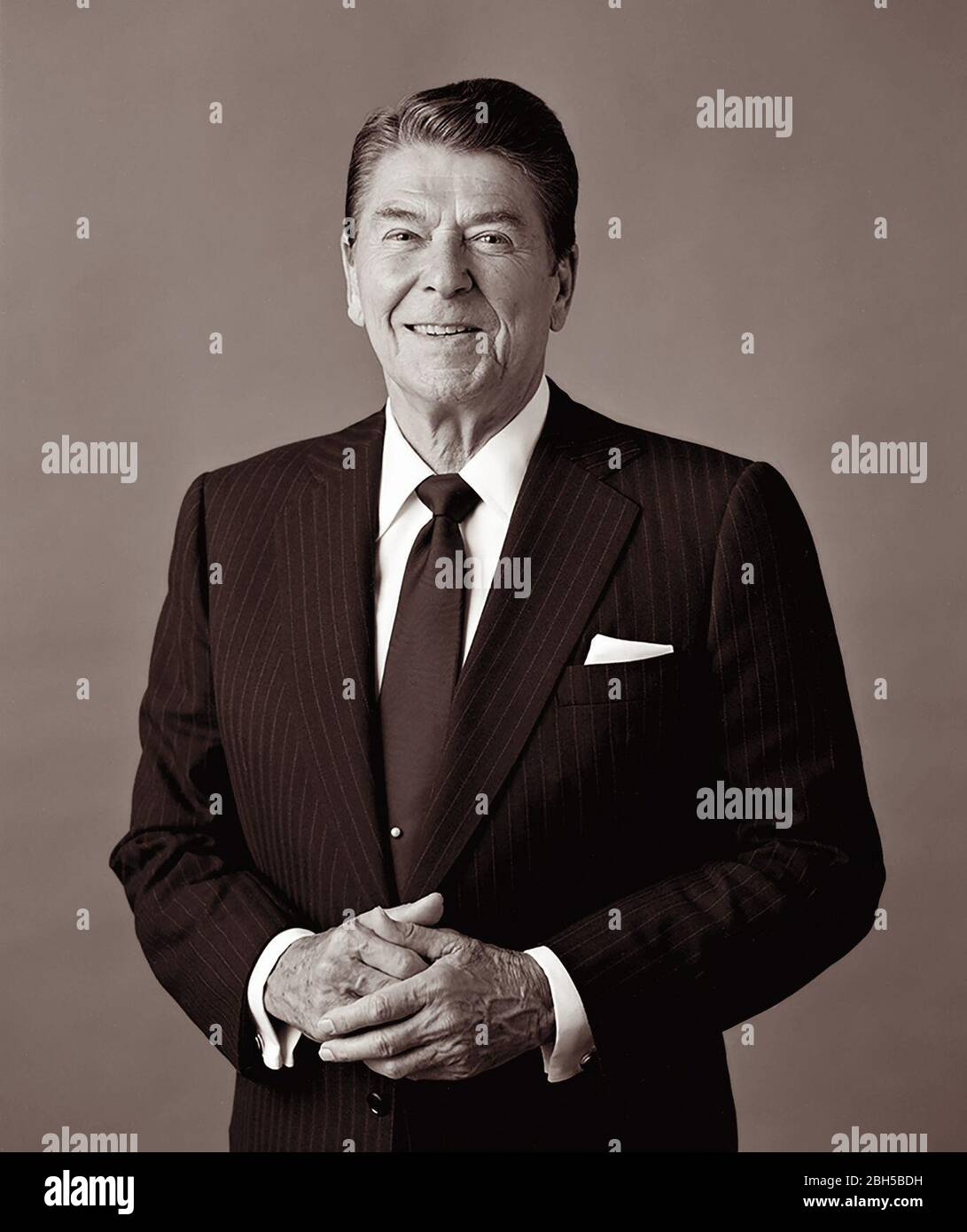 President Ronald Reagan (1911-2004), 40th President of the United States of America. Stock Photo