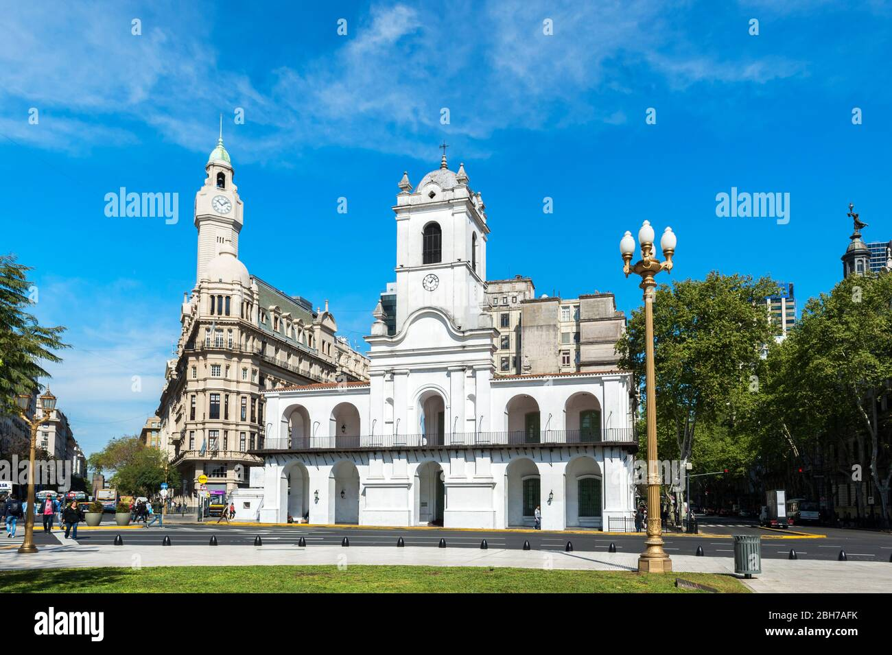 The Cabildo, National historical museum, former city hall an seat of the government during the colonial time, Buenos Aires, Argentina Stock Photo