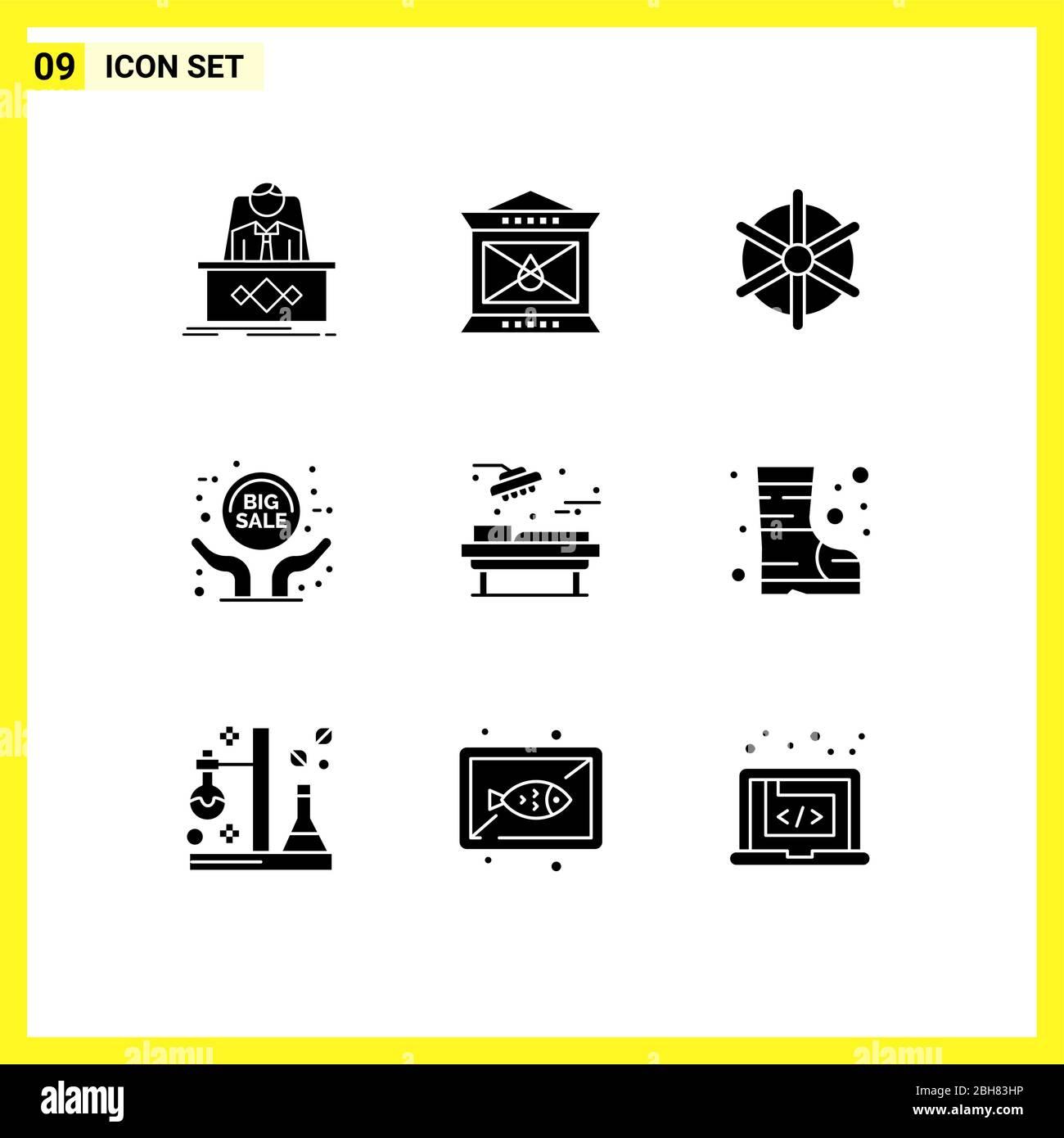 Set Of 9 Modern Ui Icons Symbols Signs For Hospital Sale Advertisement Thanksgiving Grand Sale Wheel Editable Vector Design Elements Stock Vector Image Art Alamy