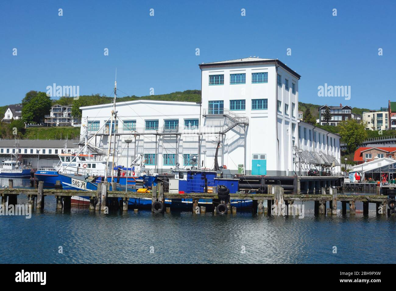 Stadthafen, Sassnitz, Rügen, Mecklenburg-Vorpommern, Germany, Europe Stock Photo