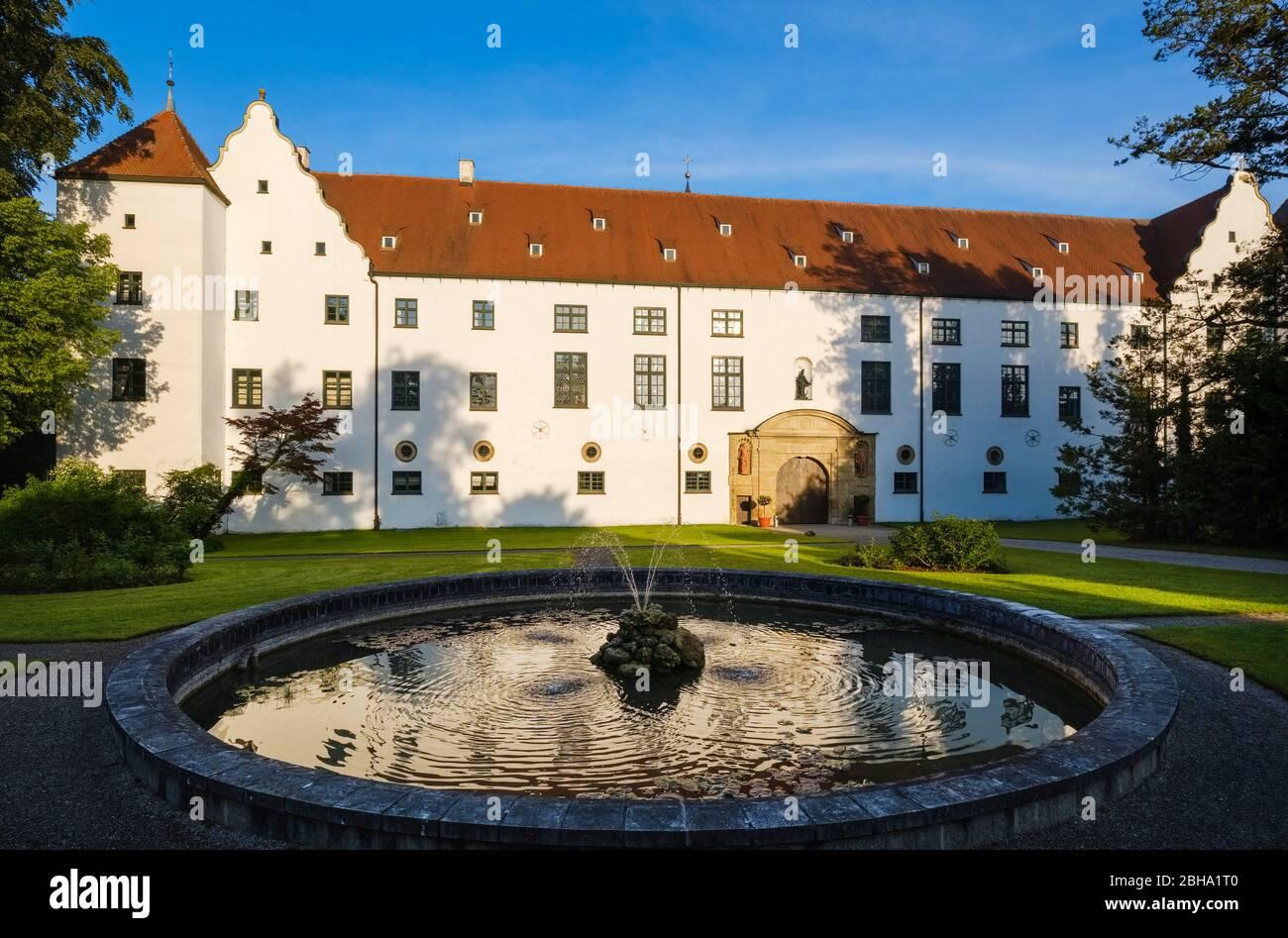 Fuggers castle Kirchheim in Swabia, Lower Allgaeu, Swabia, Bavaria, Germany Stock Photo