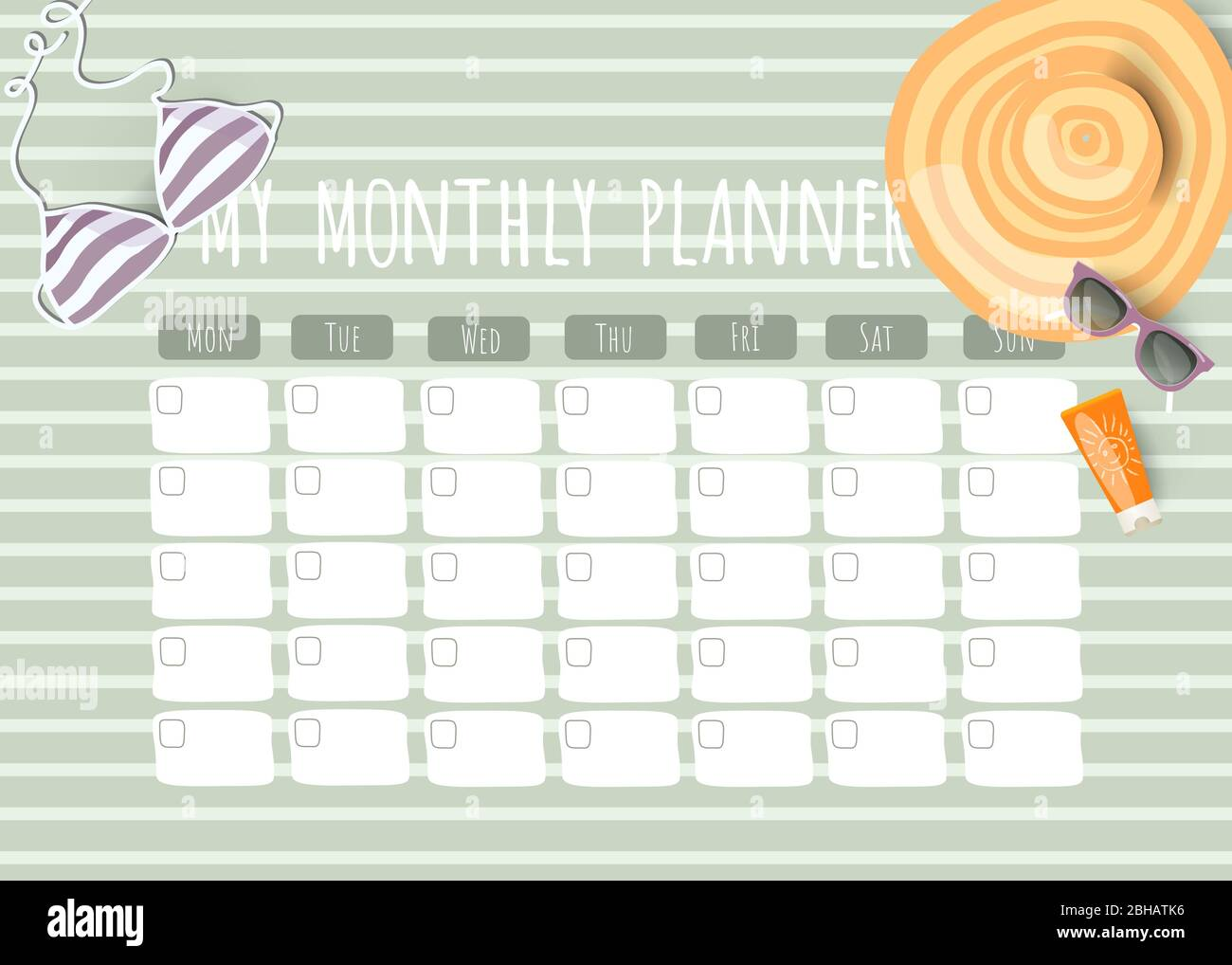 Planner Schedule Template from c8.alamy.com