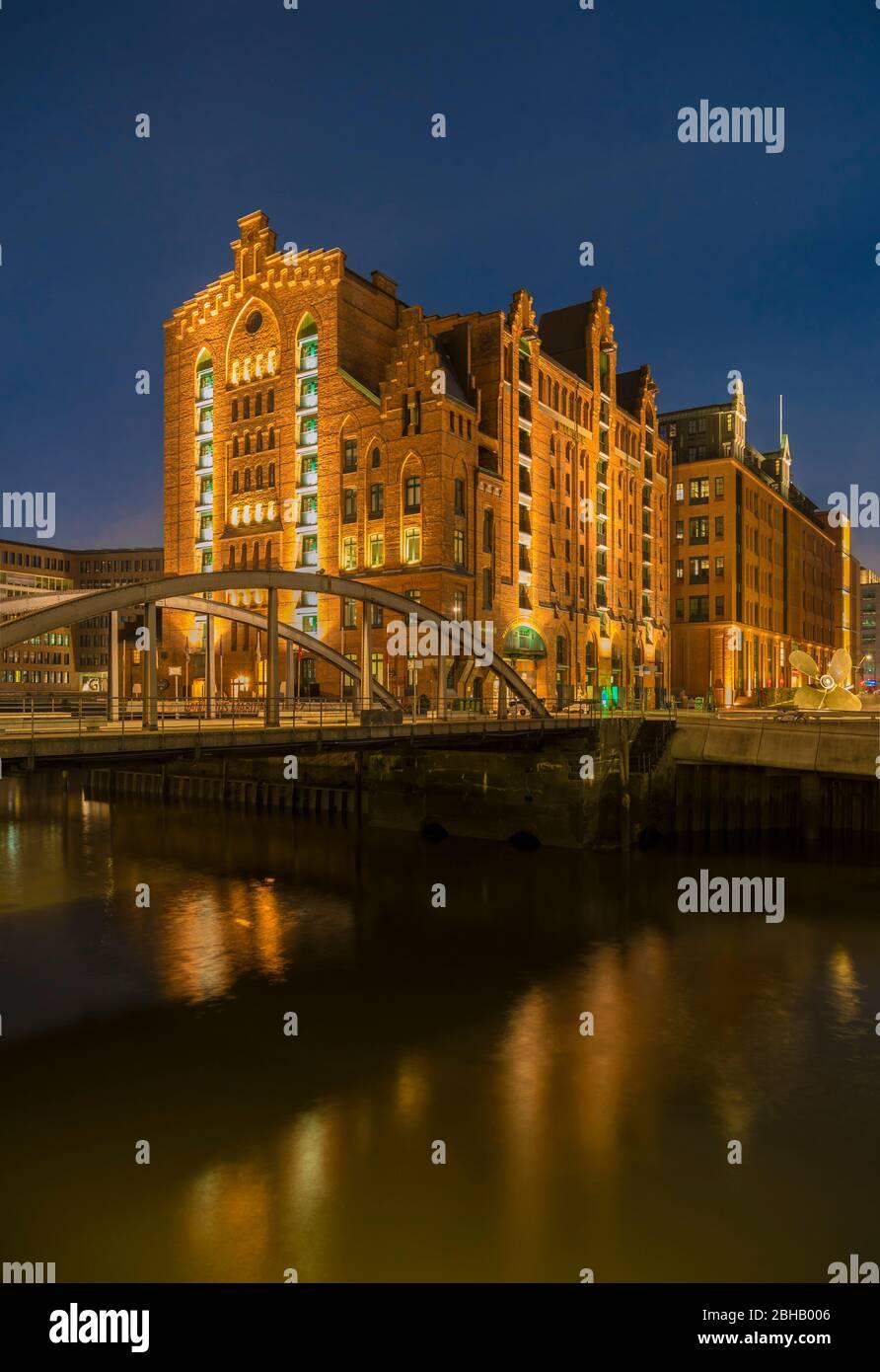 Germany, Hamburg, International Maritime Museum Hamburg, IMMH, Schiffahrtsmuseum Stock Photo