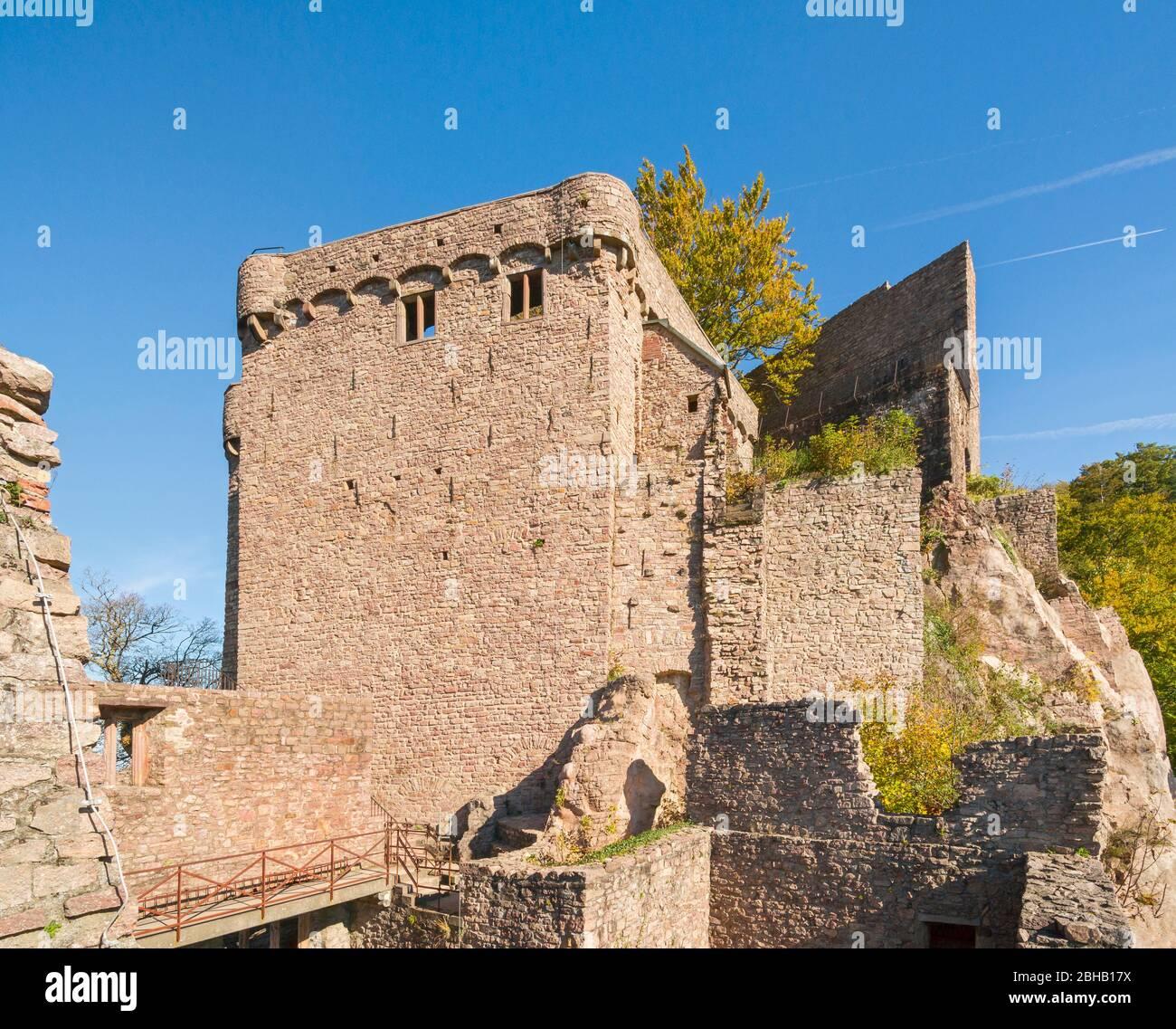 Germany, Baden-Württemberg, Baden-Baden, Hohenbaden Castle, Stock Photo