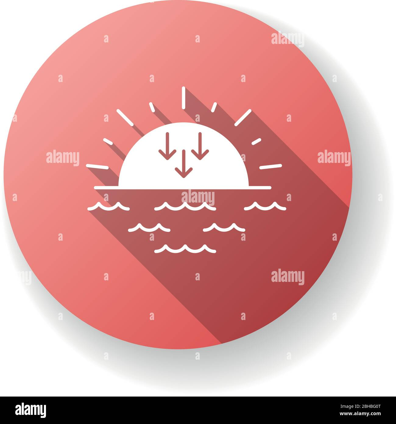 sunset red flat design long shadow glyph icon stock vector image art alamy alamy