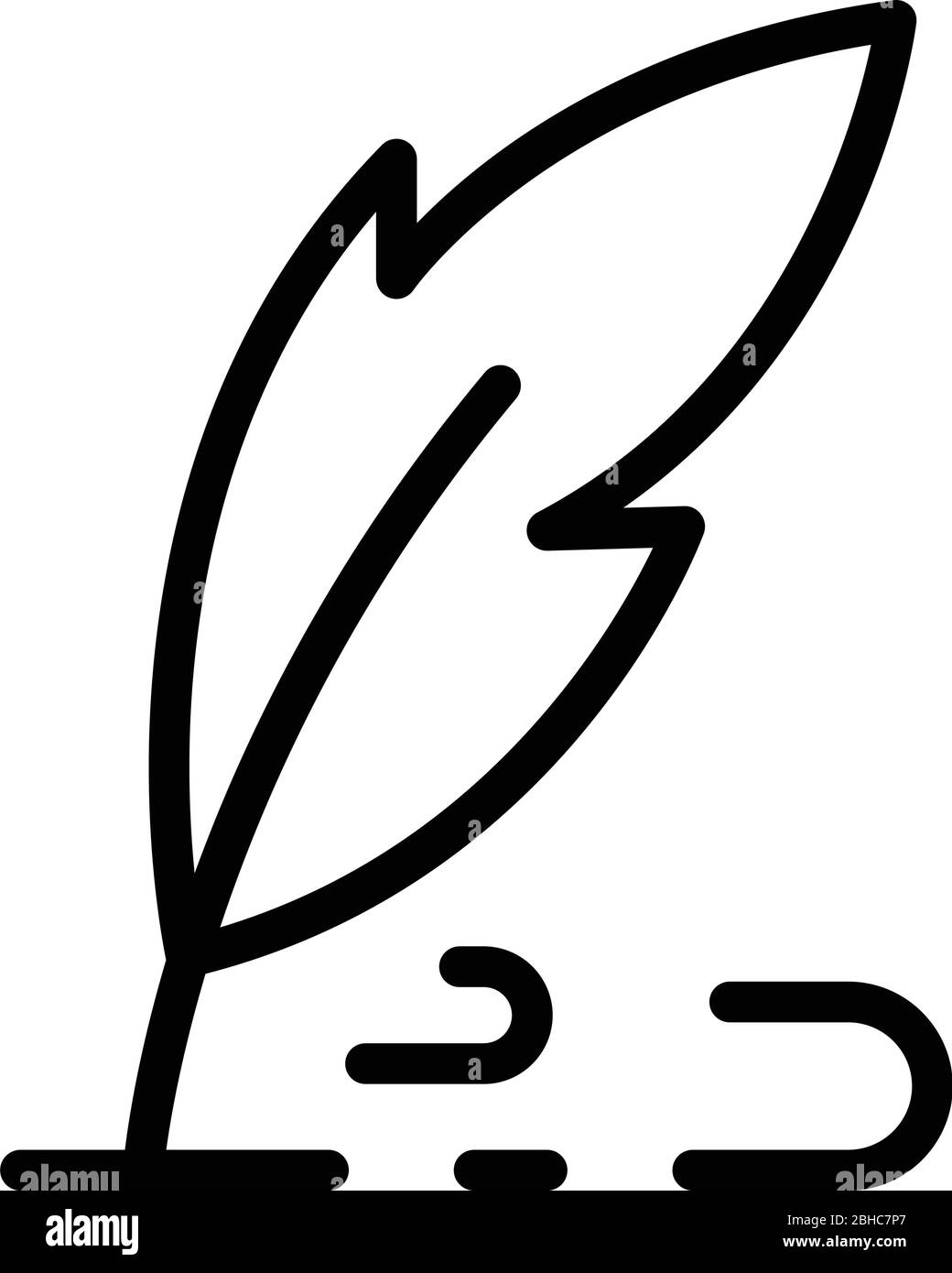 Pen writes icon, outline style Stock Vector