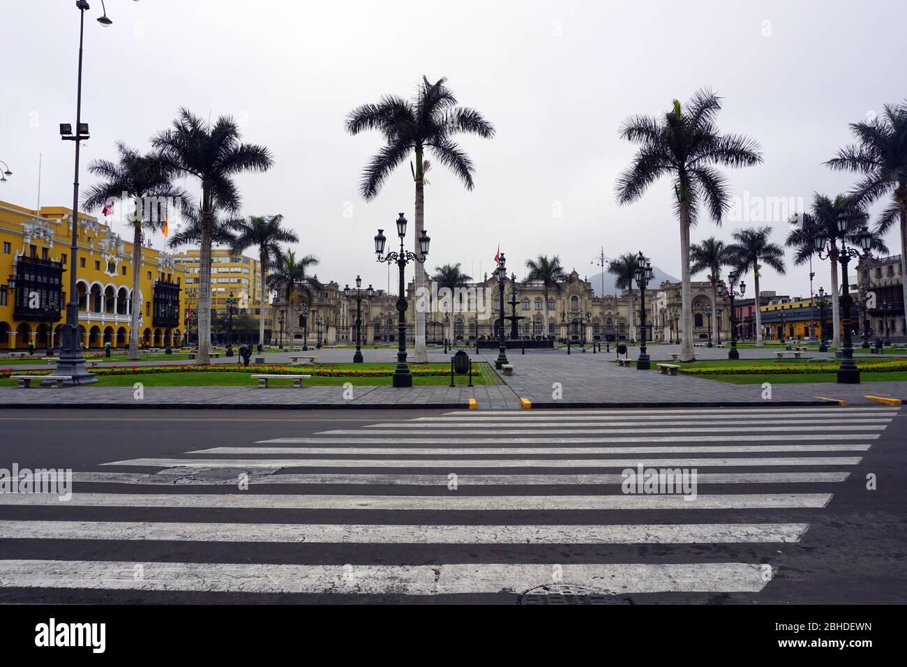 Main square of Lima city, Peru Stock Photo