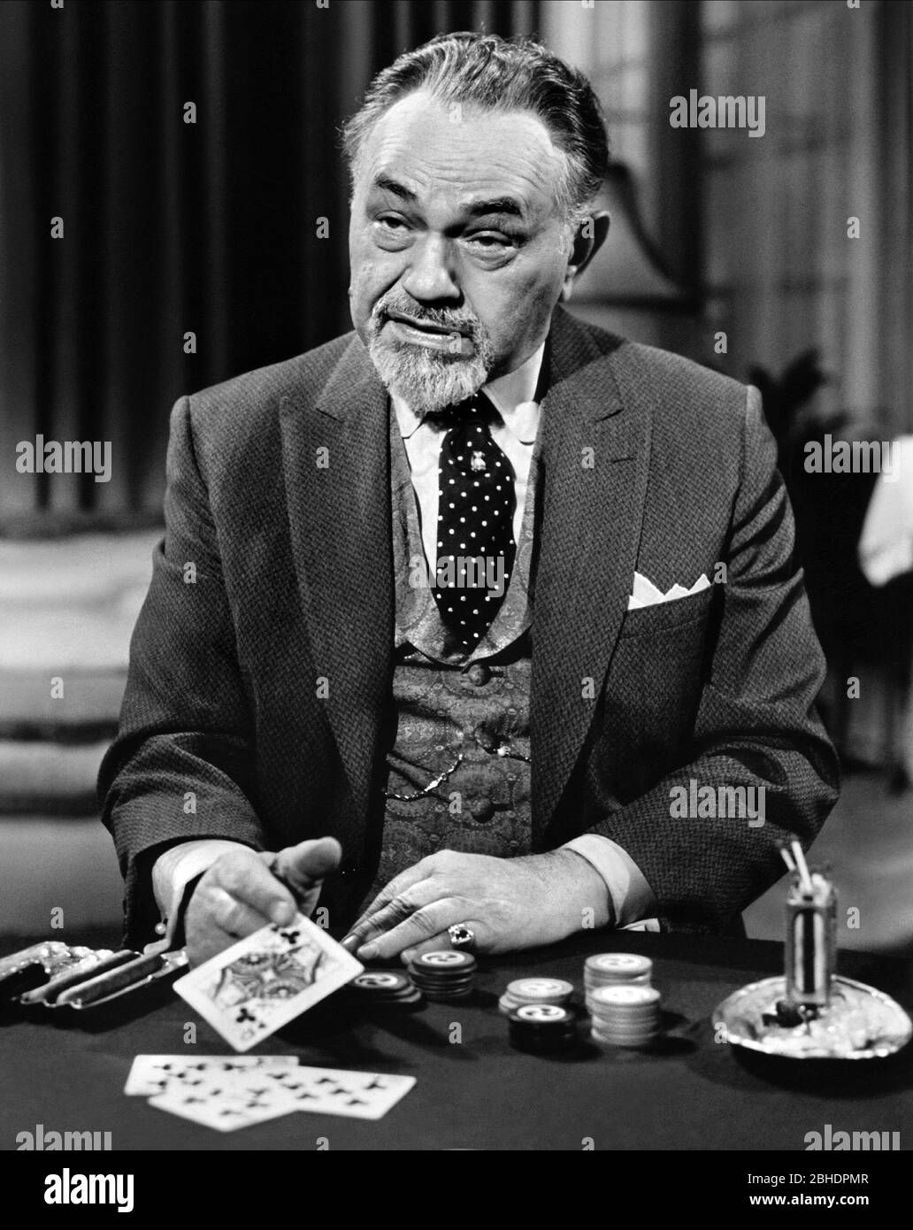 EDWARD G. ROBINSON, THE CINCINNATI KID, 1965 Stock Photo