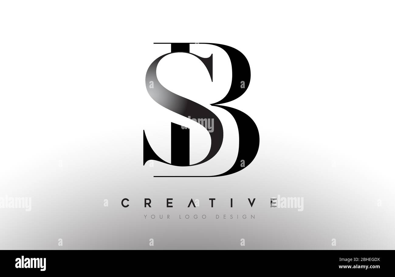 Sb Bs Letter Design Logo Logotype Icon Concept With Serif Font And Classic Elegant Style Look Vector Illustration Stock Vector Image Art Alamy