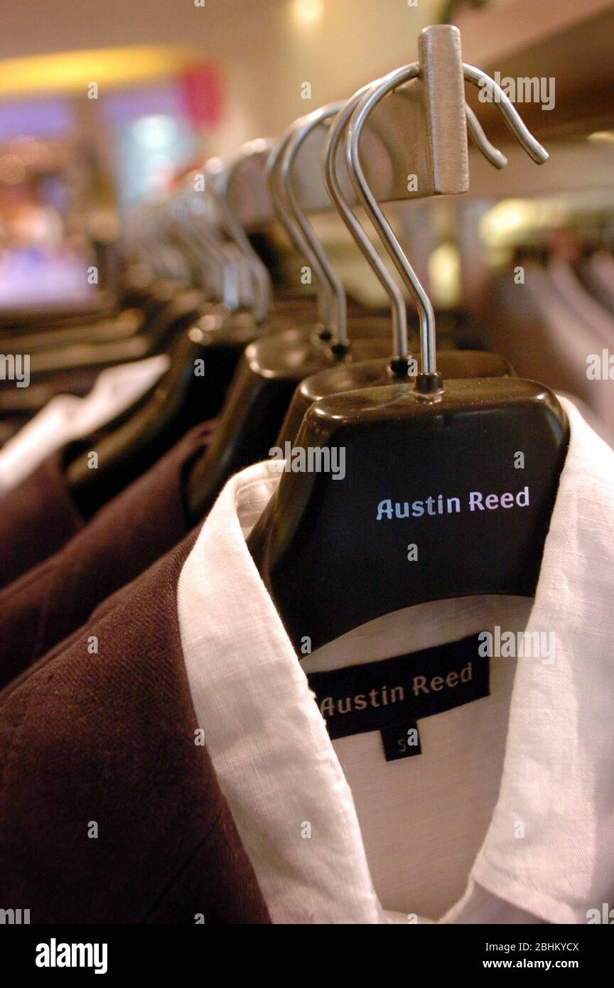 A Rail Of Suit Jackets And Shirts Inside An Austin Reed Store Stock Photo Alamy