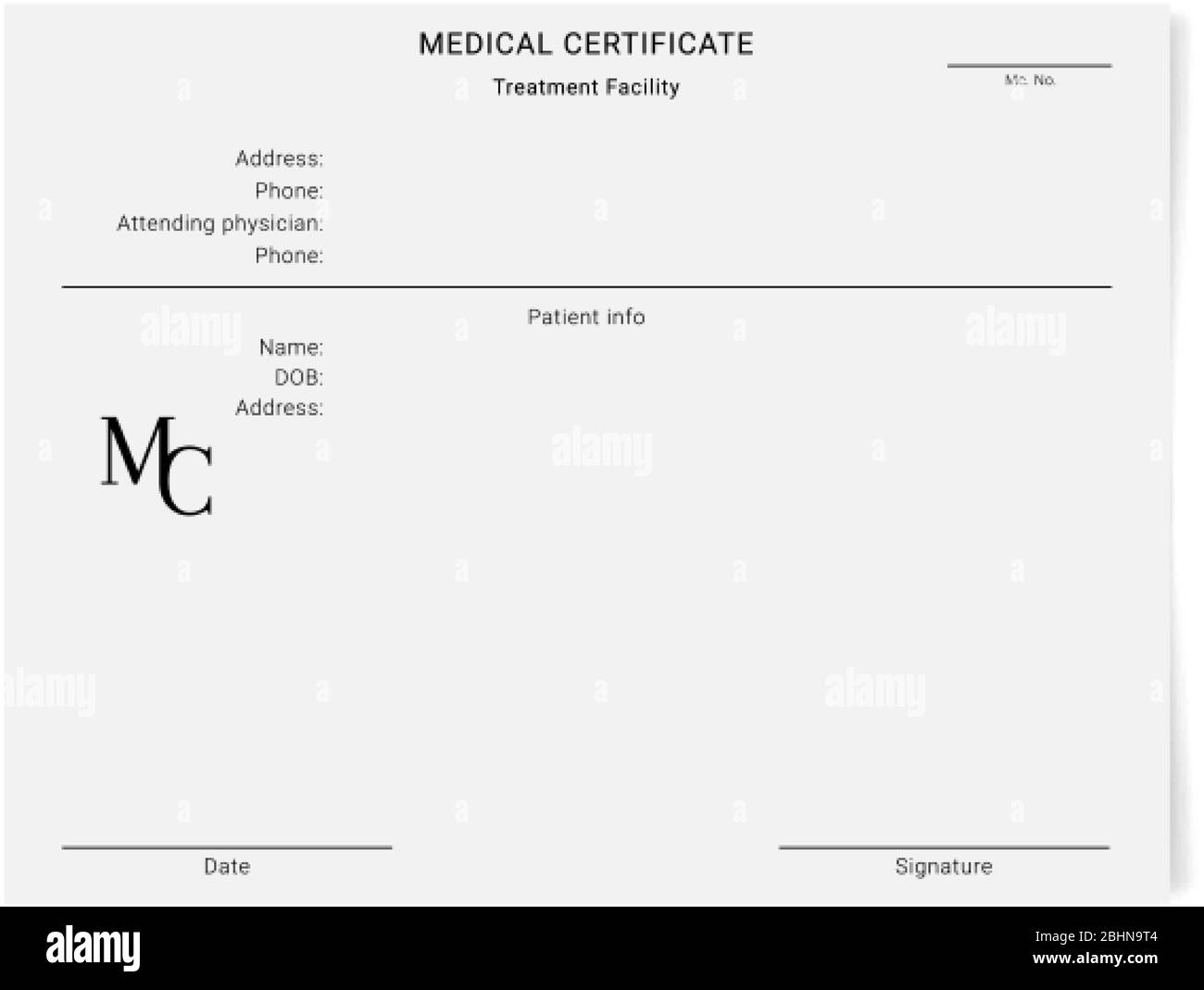 Medical Certificate High Resolution Stock Photography and Images Inside Free Fake Medical Certificate Template