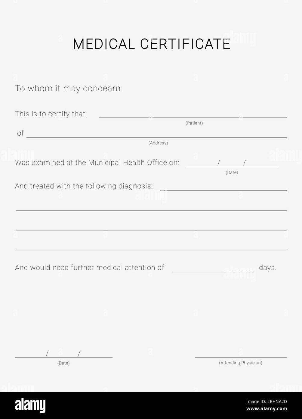 Medical Certificate High Resolution Stock Photography and Images In Free Fake Medical Certificate Template