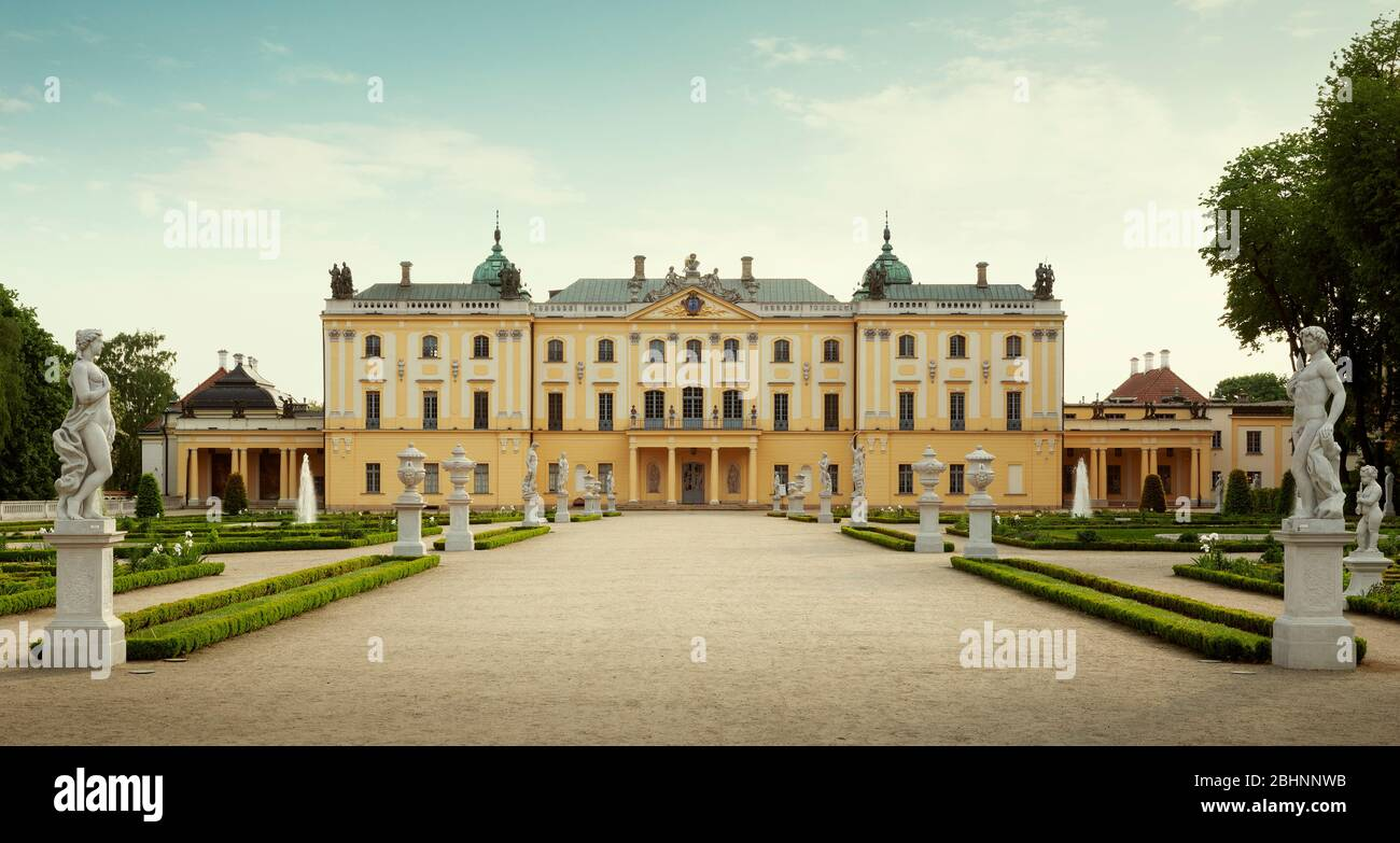 The Branicki Palace and park in Bialystok, Poland Stock Photo