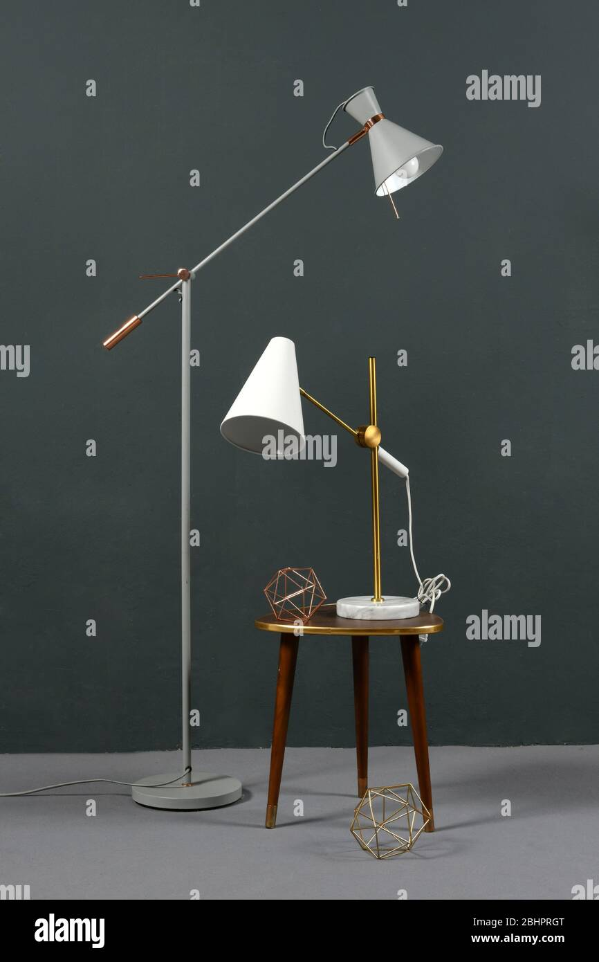 Two Vintage Anglepoise Lamps One A Freestanding Floor Lamp And