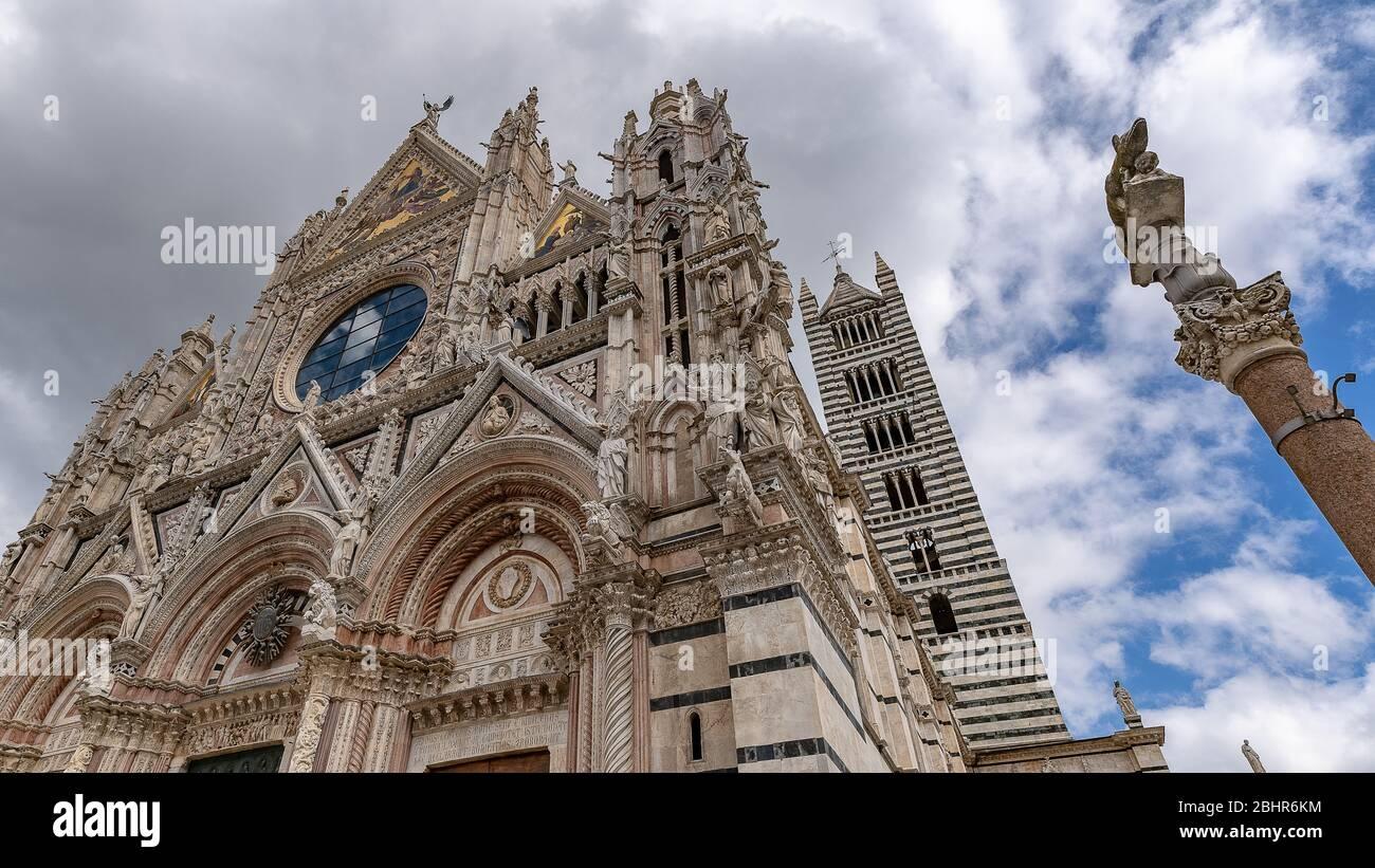 UNESCO, Piazza del Duomo, Cathedrale Santa Maria Assunta, Siena, Province Siena, Tuscany, Italy, Europe Stock Photo