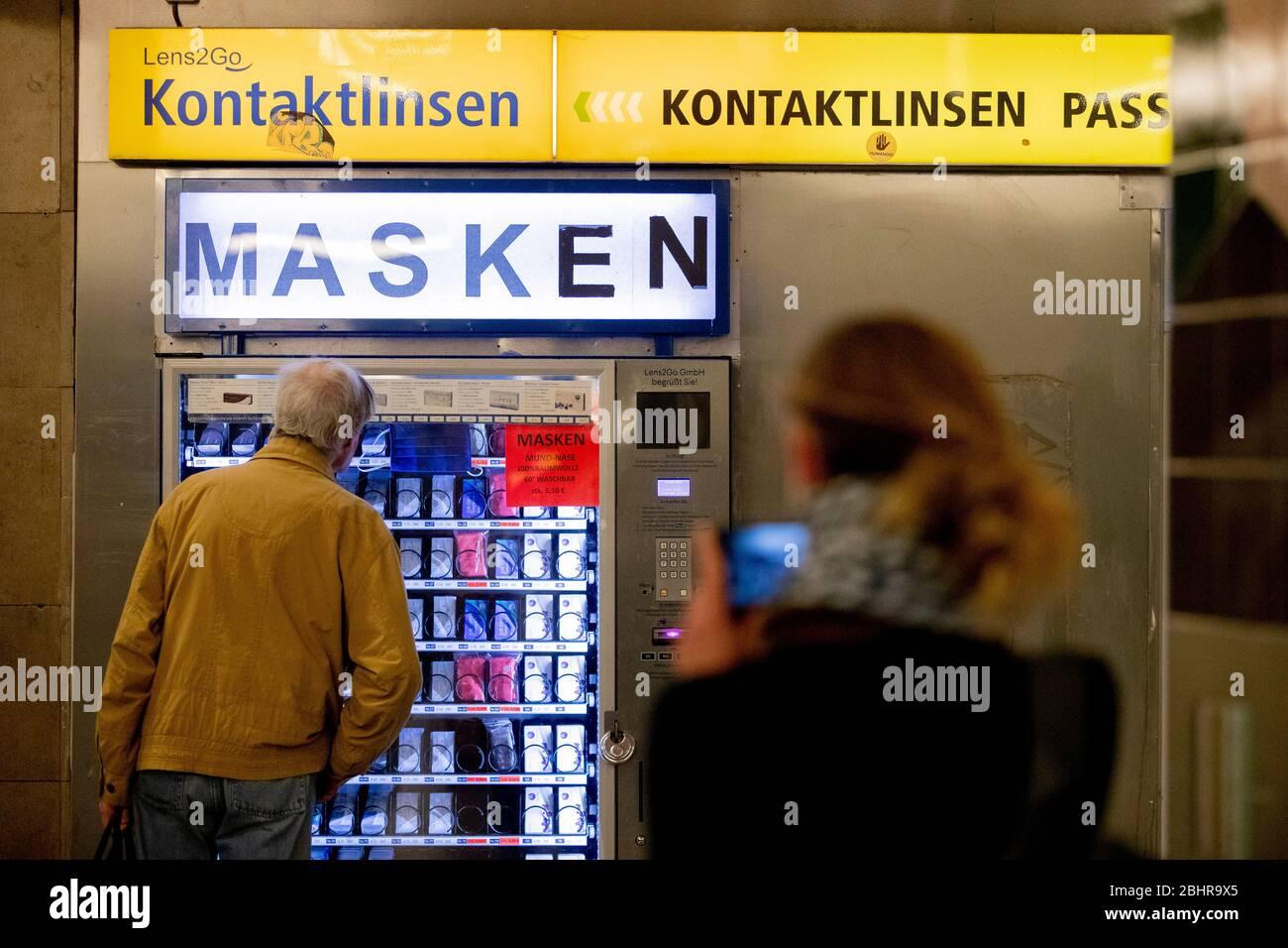 Berlin, Germany. 20th Apr, 20. A vending machine where you can ...