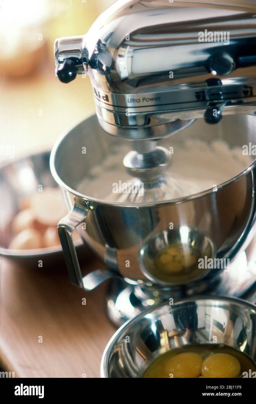 Kitchen Aid Mixer Being Used To Make A Cake Stock Photo Alamy