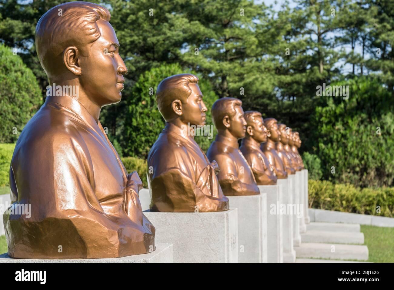 Revolutionary Martyrs' Cemetery, Pyongyang, North Korea Stock Photo