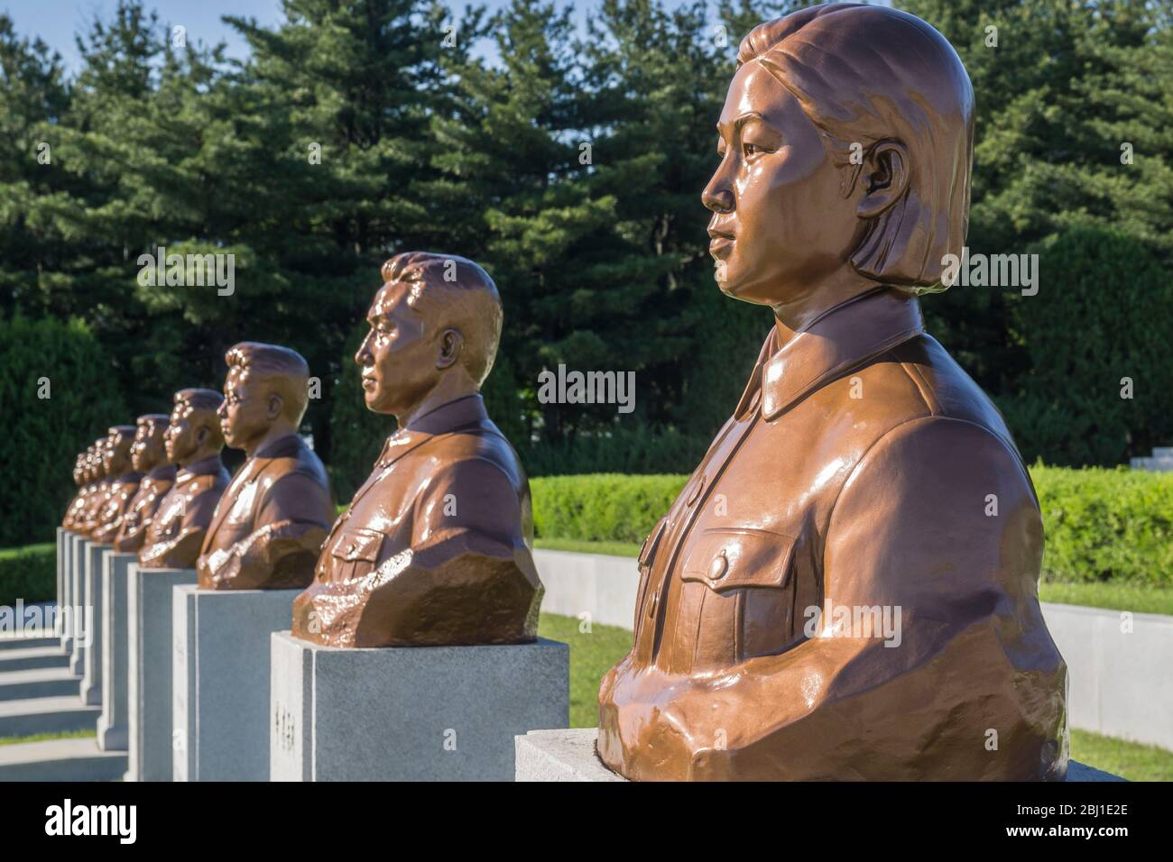 Revolutionary Martyrs' Cemetery, Pyongyang, North Korea Stock Photo