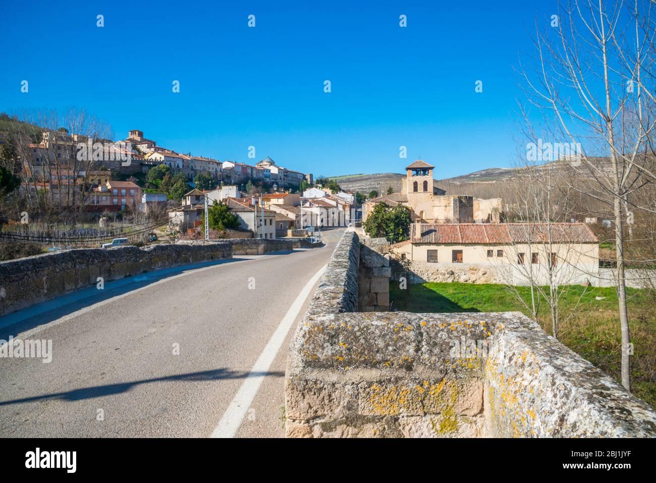 Overview. Fuentidueña, Segovia province, Castilla Leon, Spain. Stock Photo