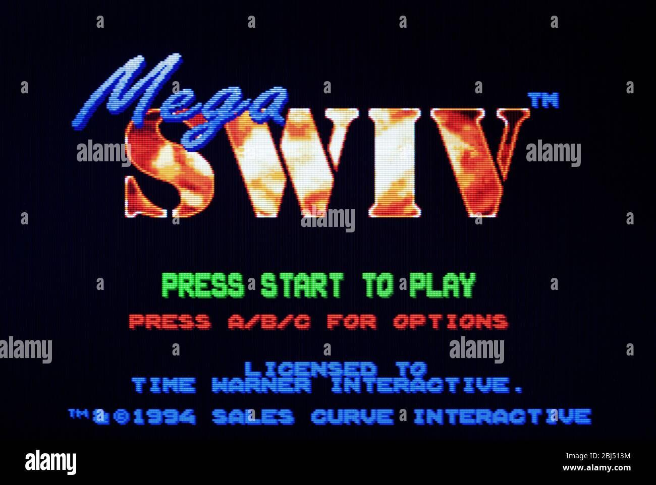 Mega SWIV - Sega Genesis Mega Drive - Editorial use only Stock Photo