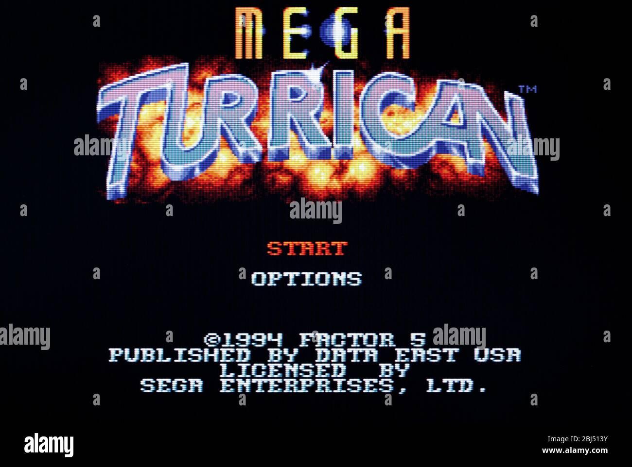 Mega Turrican - Sega Genesis Mega Drive - Editorial use only Stock Photo