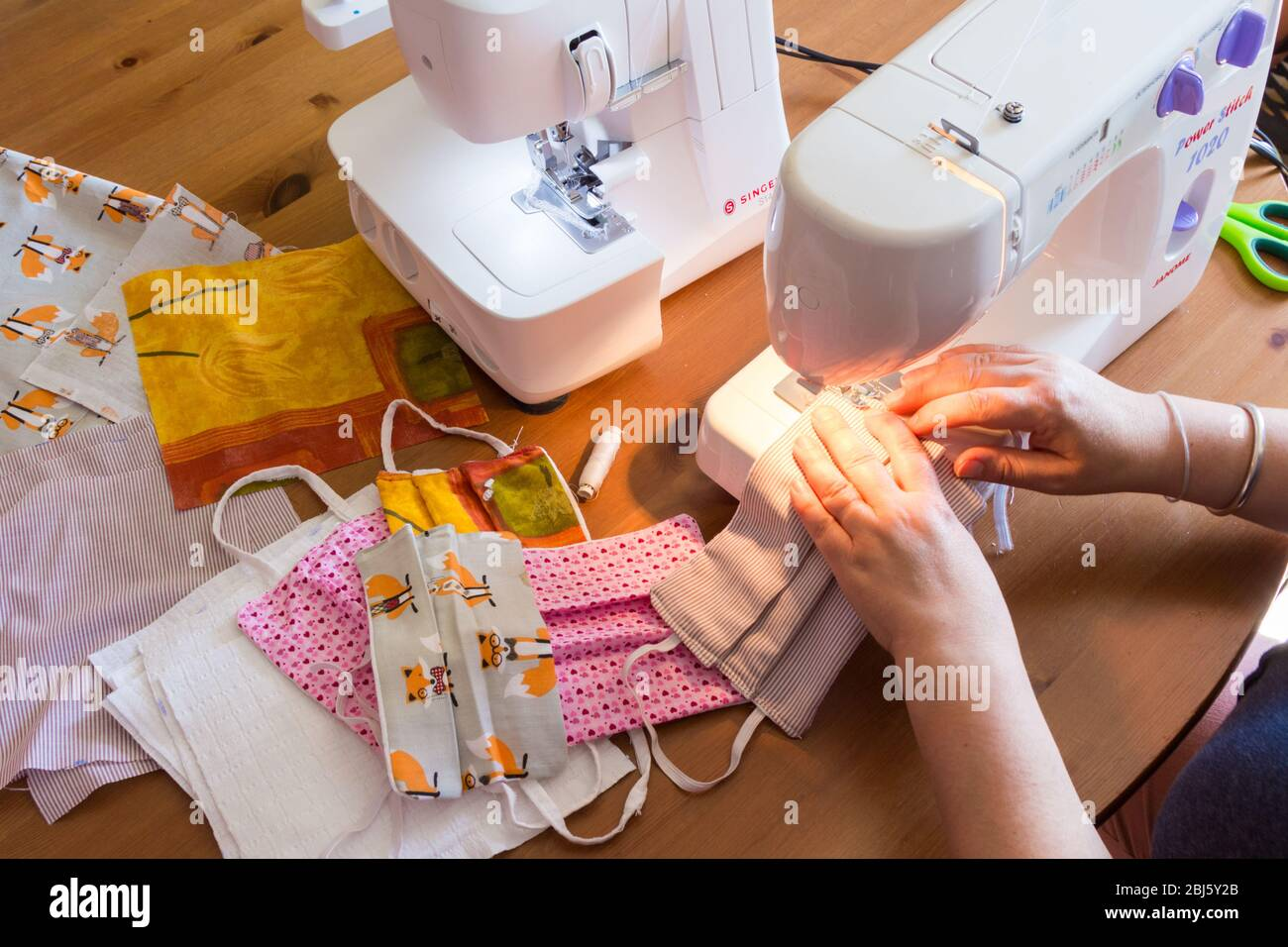 Sewing Home Made Face Masks Phase 5 Sewing Elastic Cord Onto