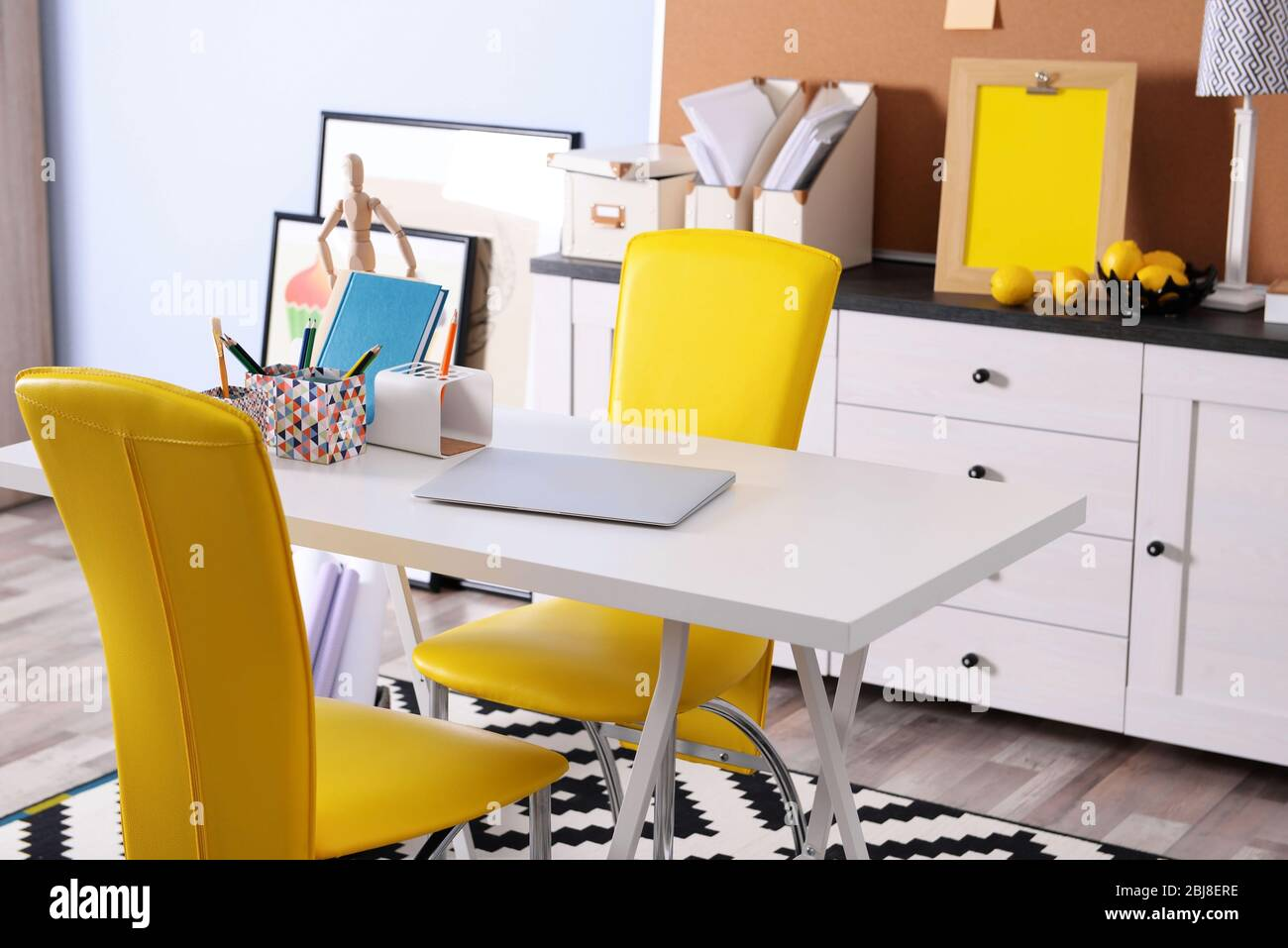 Modern Room Design Furniture Set With Table And Chairs Stock Photo Alamy