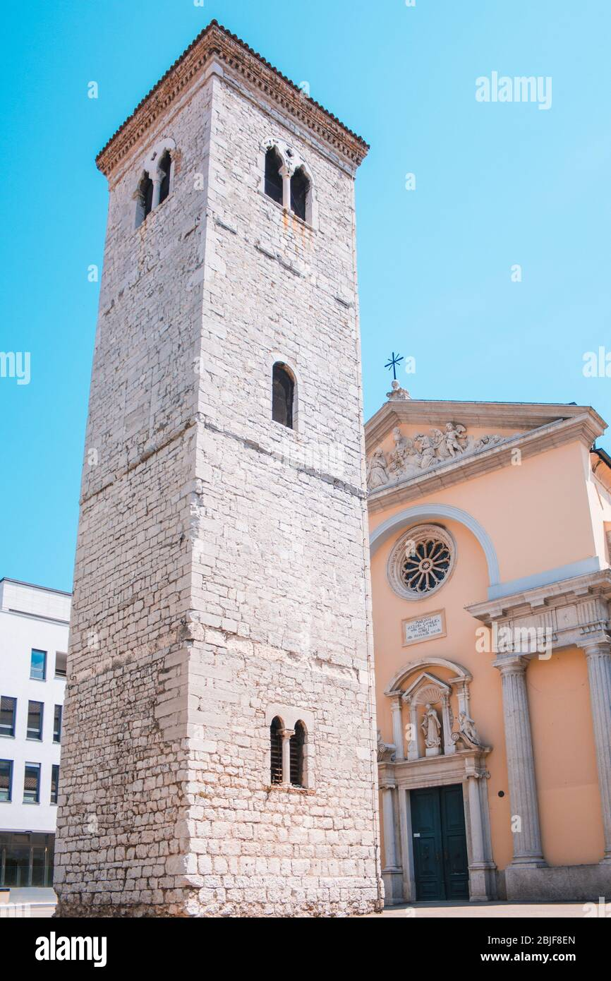 Cathedral of the Assumption of the Blessed Virgin Mary in Pula, Istrian Peninsula in Croatia Stock Photo