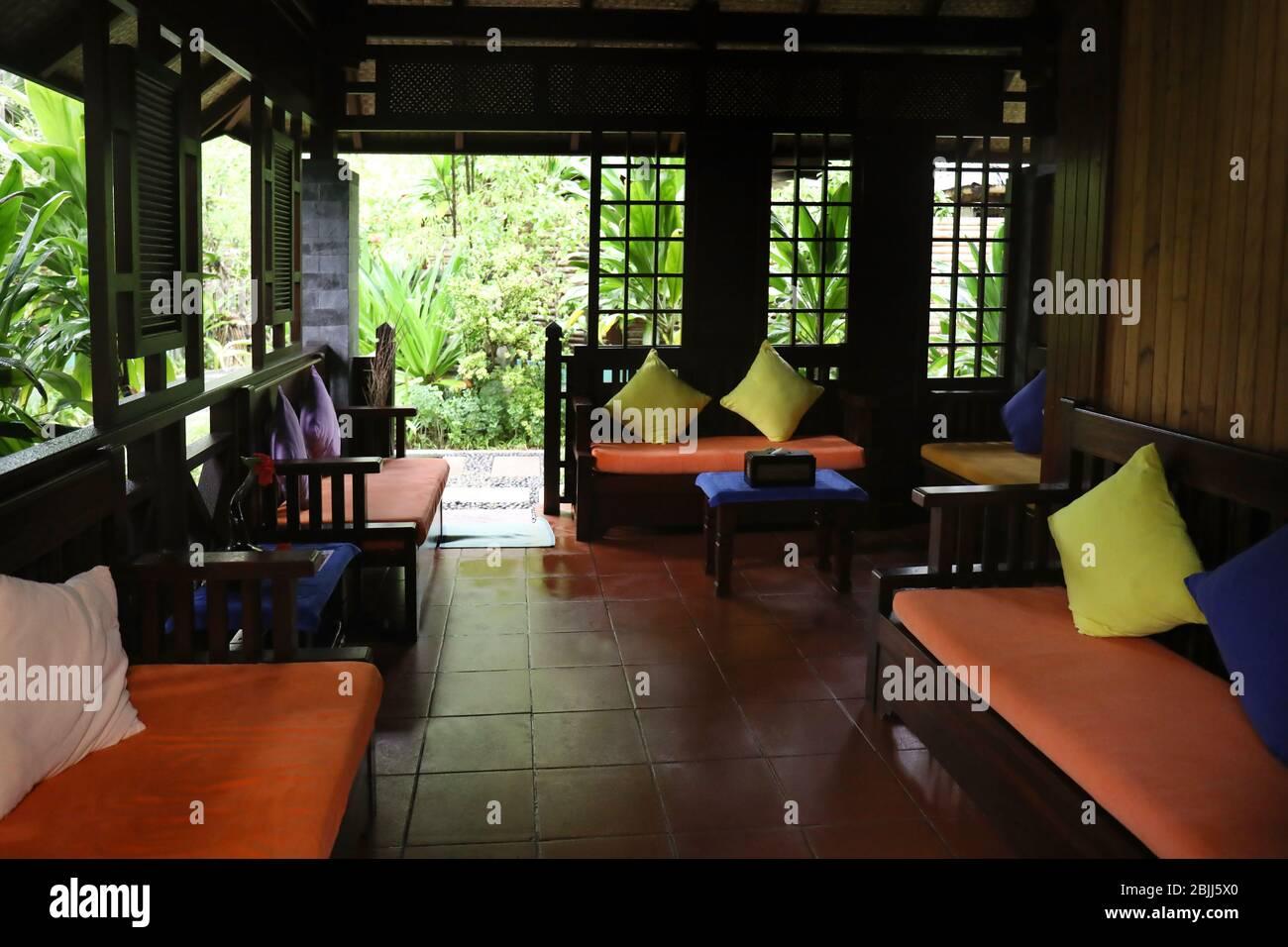 Interior Om Spa Salon At Resort Stock Photo Alamy