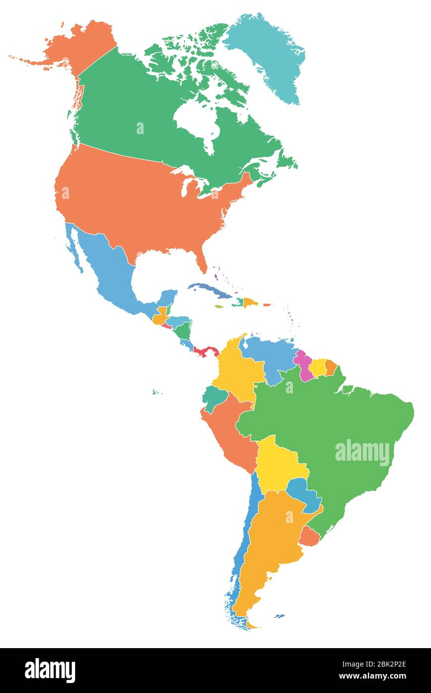 Picture of: North South America Map Mexico High Resolution Stock Photography And Images Alamy