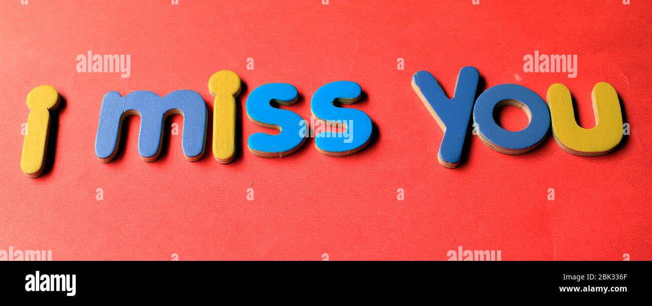 Hand drawn phrase I miss you Royalty Free Vector Image | 610x1300