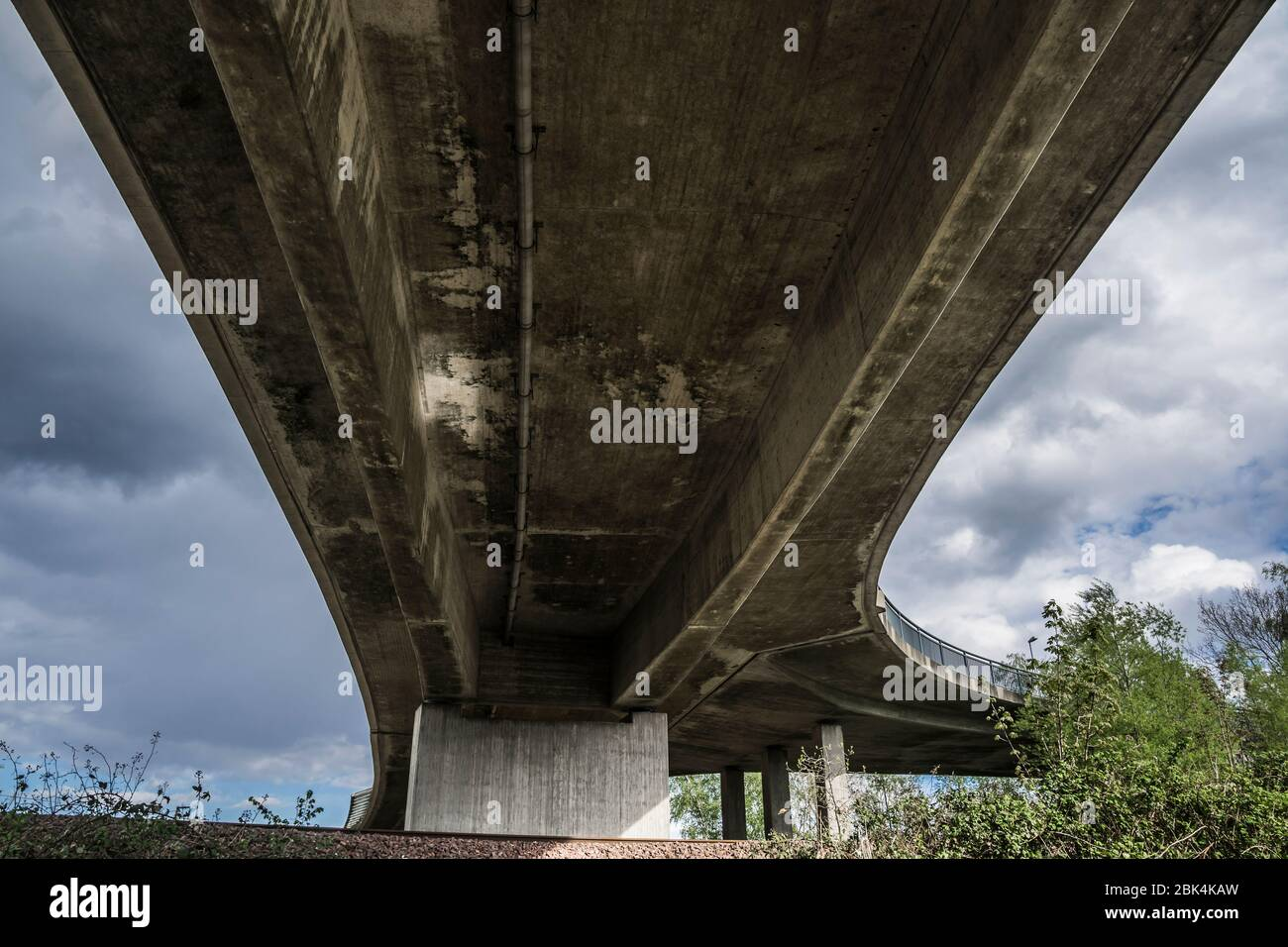 view of a urban bridge Stock Photo