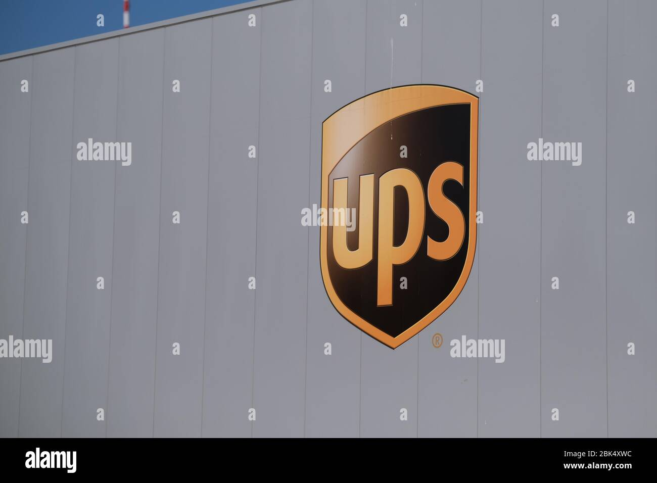 A Logo Of United Parcel Service Inc Ups Is Pictured On Delivery Truck Trailer On April 26 2020 In Katwijk Netherlands Credit Yuriko Nakao Aflo Alamy Live News Stock Photo 355994728 Alamy