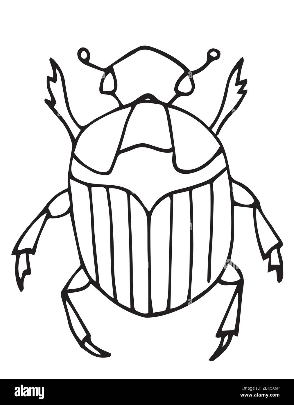 - Outline Bug, Vector Icon.Easy Coloring Book Page For Kids. Insects