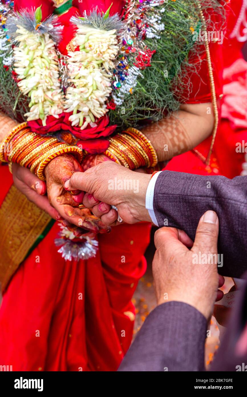 nepali wedding high resolution stock photography and images alamy https www alamy com wedding day details of hindu wedding ceremony amazing nepali wedding ceremony image356052466 html