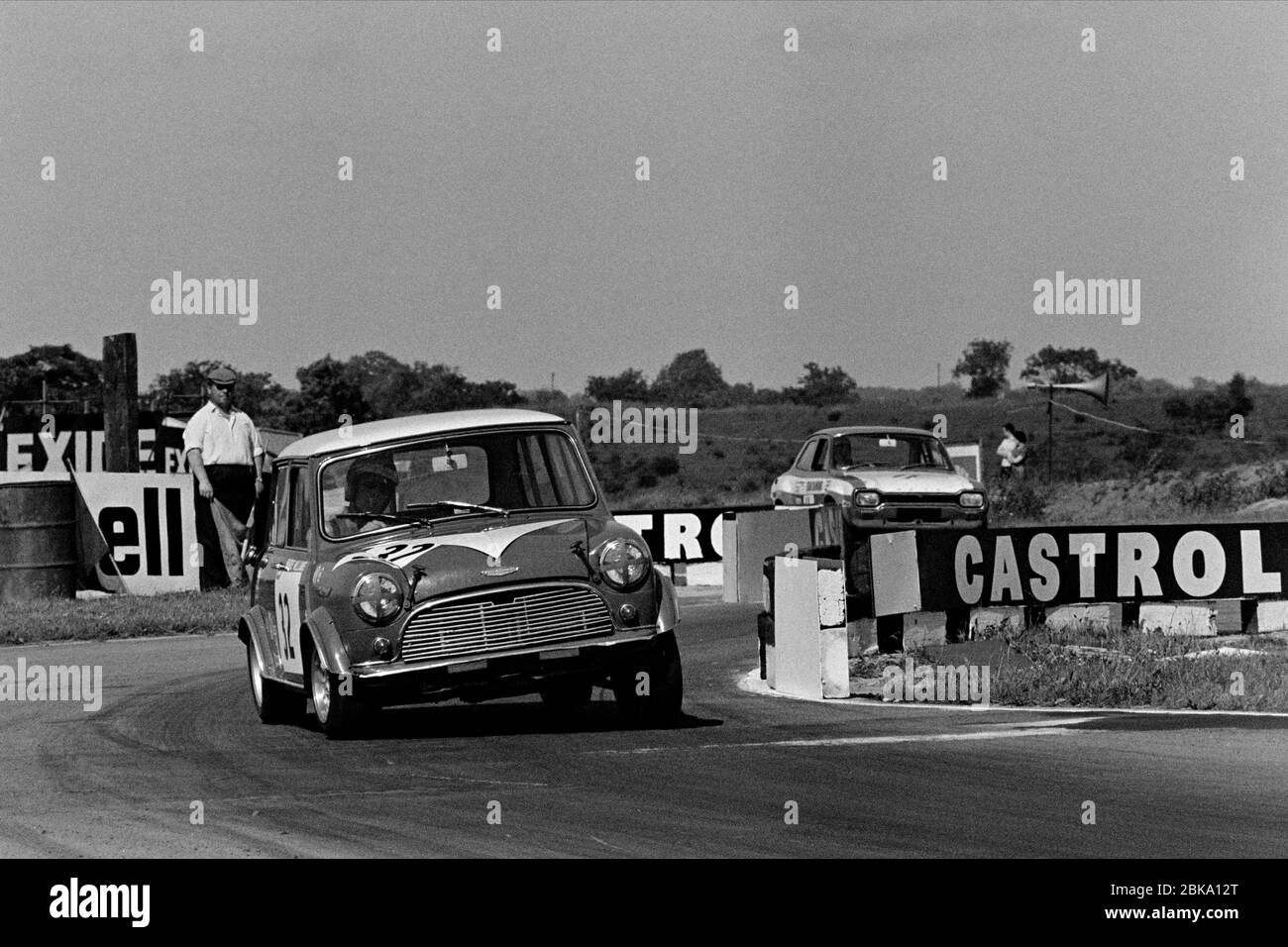Barrie 'Whizzo' Williams in saloon car action at Croft in 1969. Stock Photo