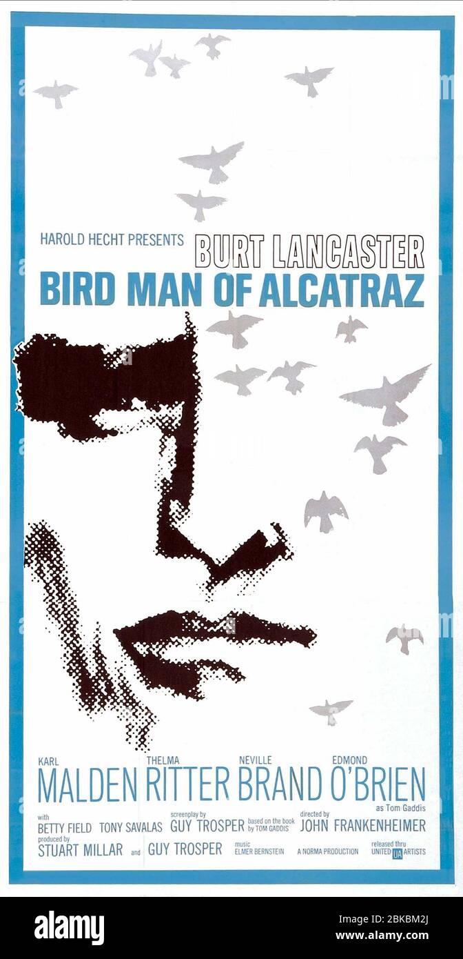 FILM POSTER, THE BIRDMAN OF ALCATRAZ, 1962 Stock Photo