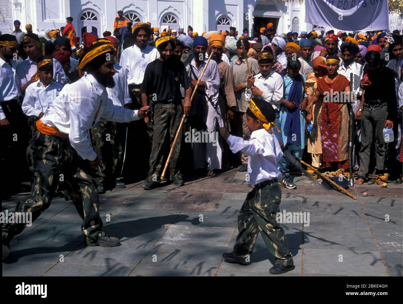 Sikh Martial Arts Display At Anandpur On Hola Mohalle Meaning Mock Fight The Tradition Began With Guru Gobind Singh Stock Photo Alamy