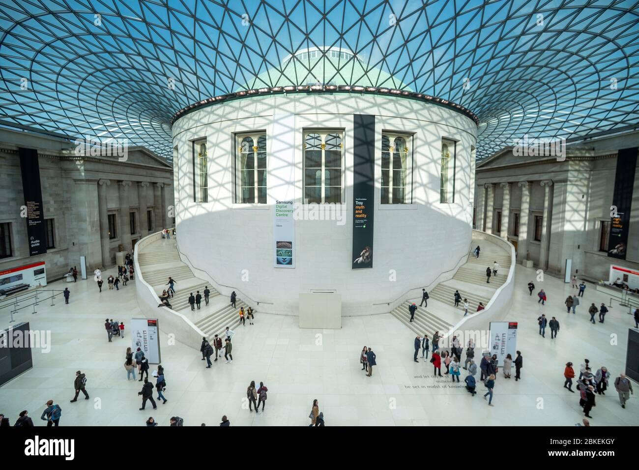 Queen Elizabeth II Great Court, British Museum, London, UK Stock Photo