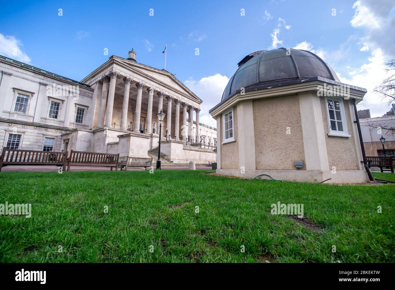 UCL University College London. Wilkins Building, Gower Street, London. Stock Photo