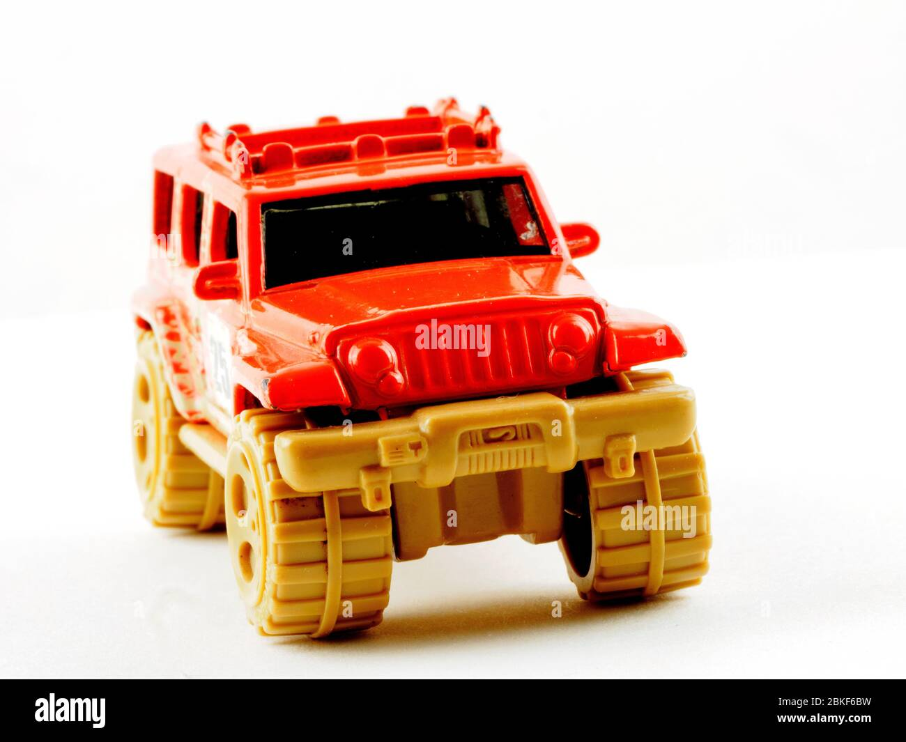 Matchbox Jeep model toy car isolated in white background Stock Photo