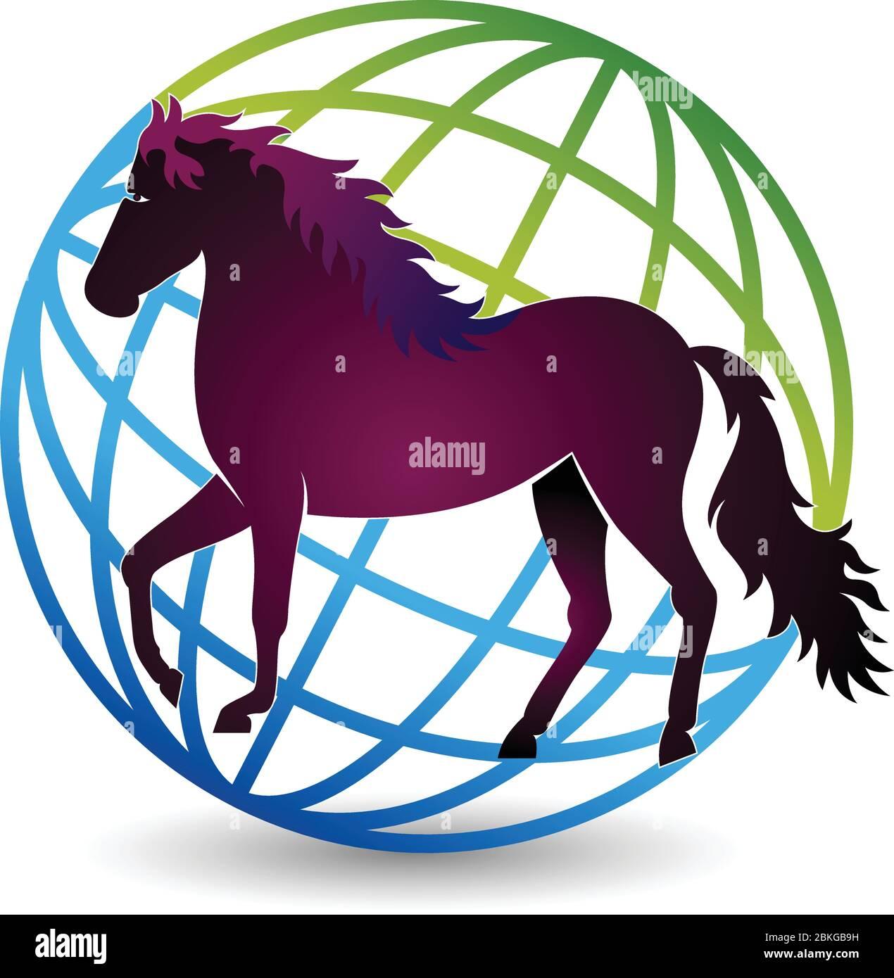 World Horse Logo Stock Vector Image Art Alamy