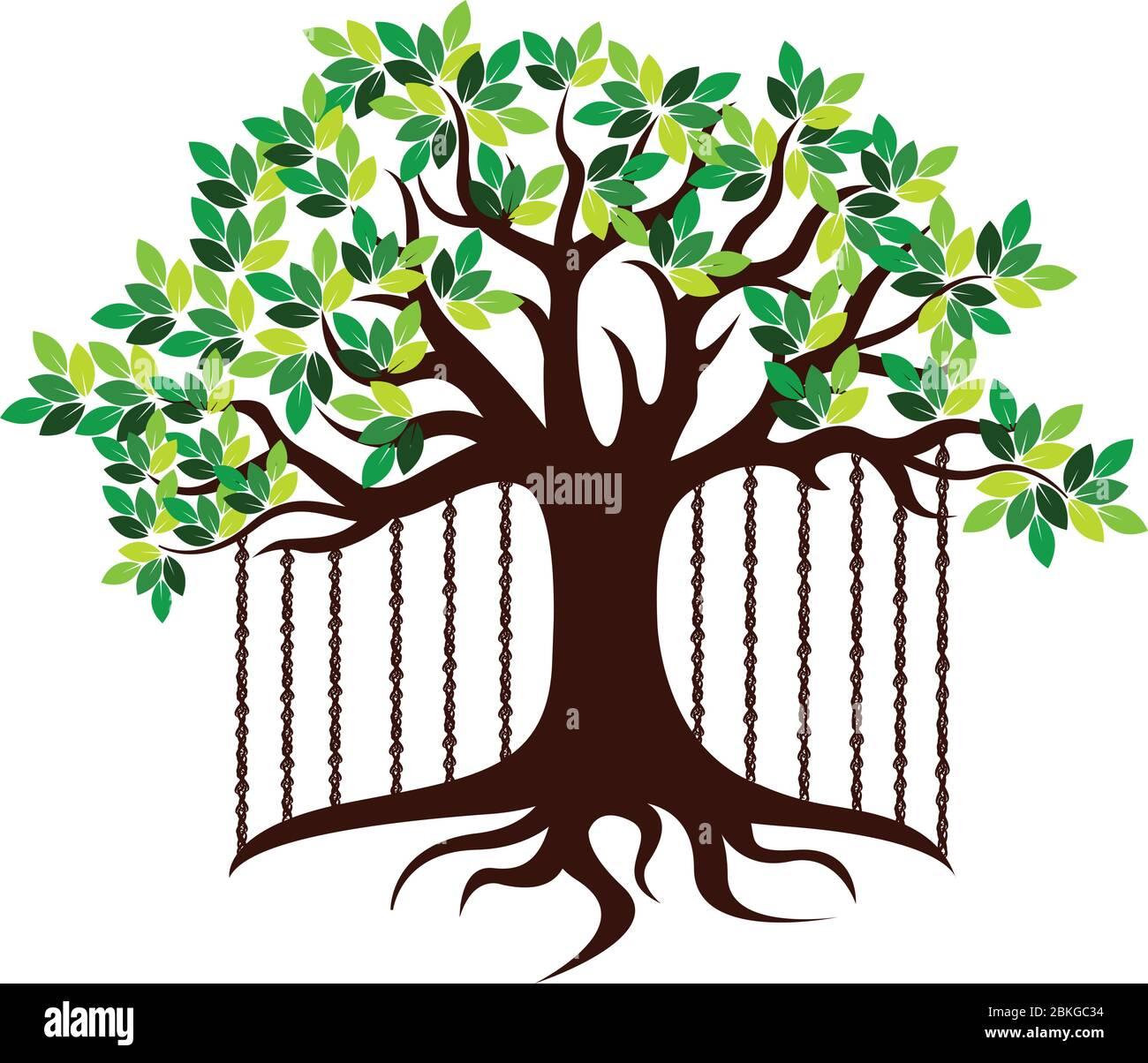 Banyan Tree Logo Stock Vector Image Art Alamy
