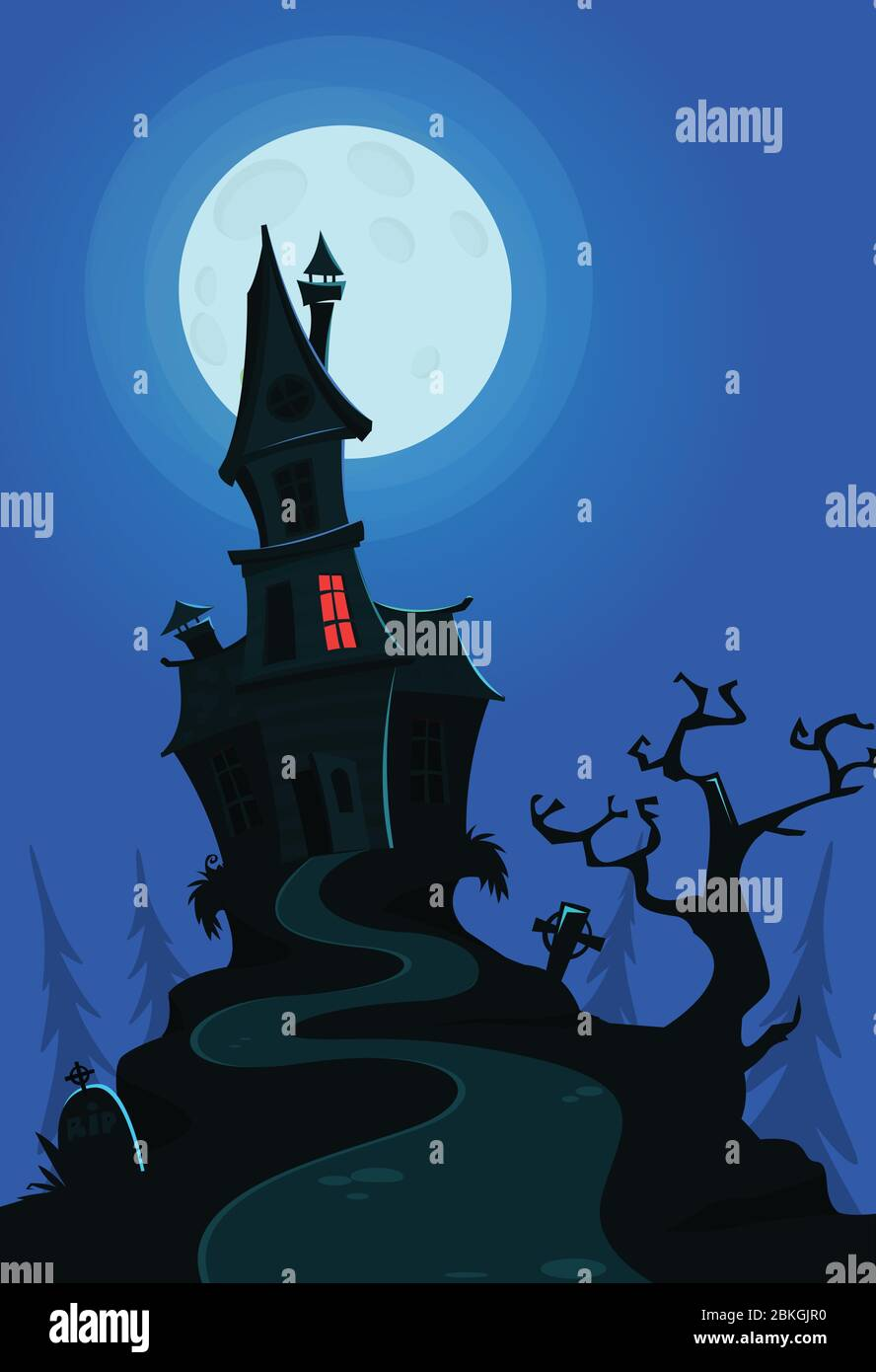Vector Illustration Of A Cartoon Creepy Haunted House On Halloween Night Stock Vector Image Art Alamy Cartoon christmas snow woman holding a broom #1347356. https www alamy com vector illustration of a cartoon creepy haunted house on halloween night image356251812 html