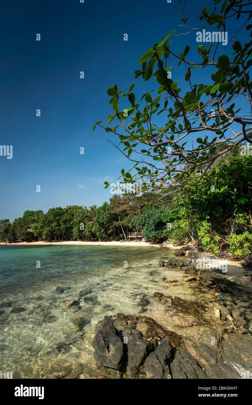 Treehouse Bay in Koh Ta Kiev paradise island near sihanoukville cambodia Stock Photo